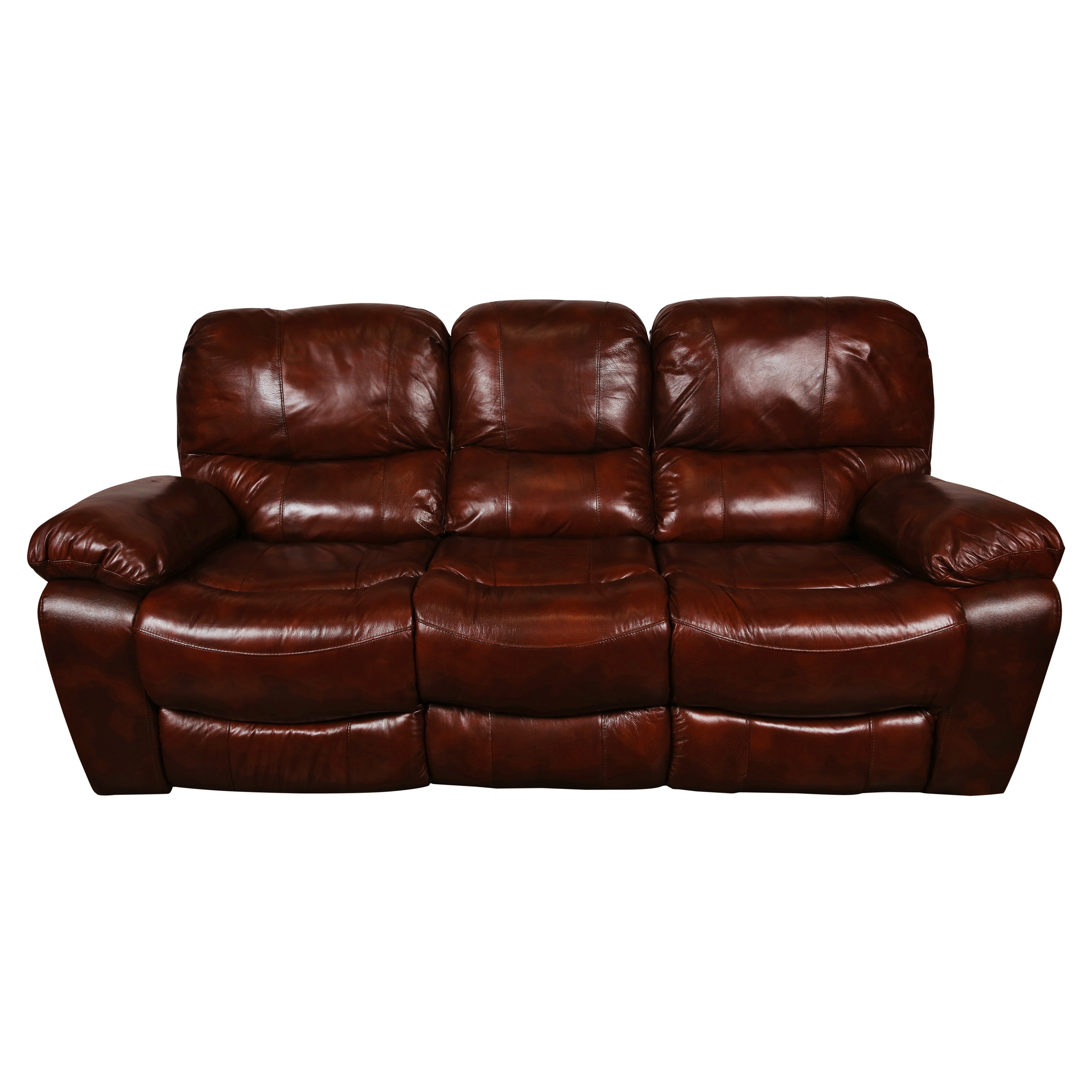 Porter Ramsey Cognac Brown Top Grain Leather Dual Reclining Sofa On Free Shipping Today 13000482
