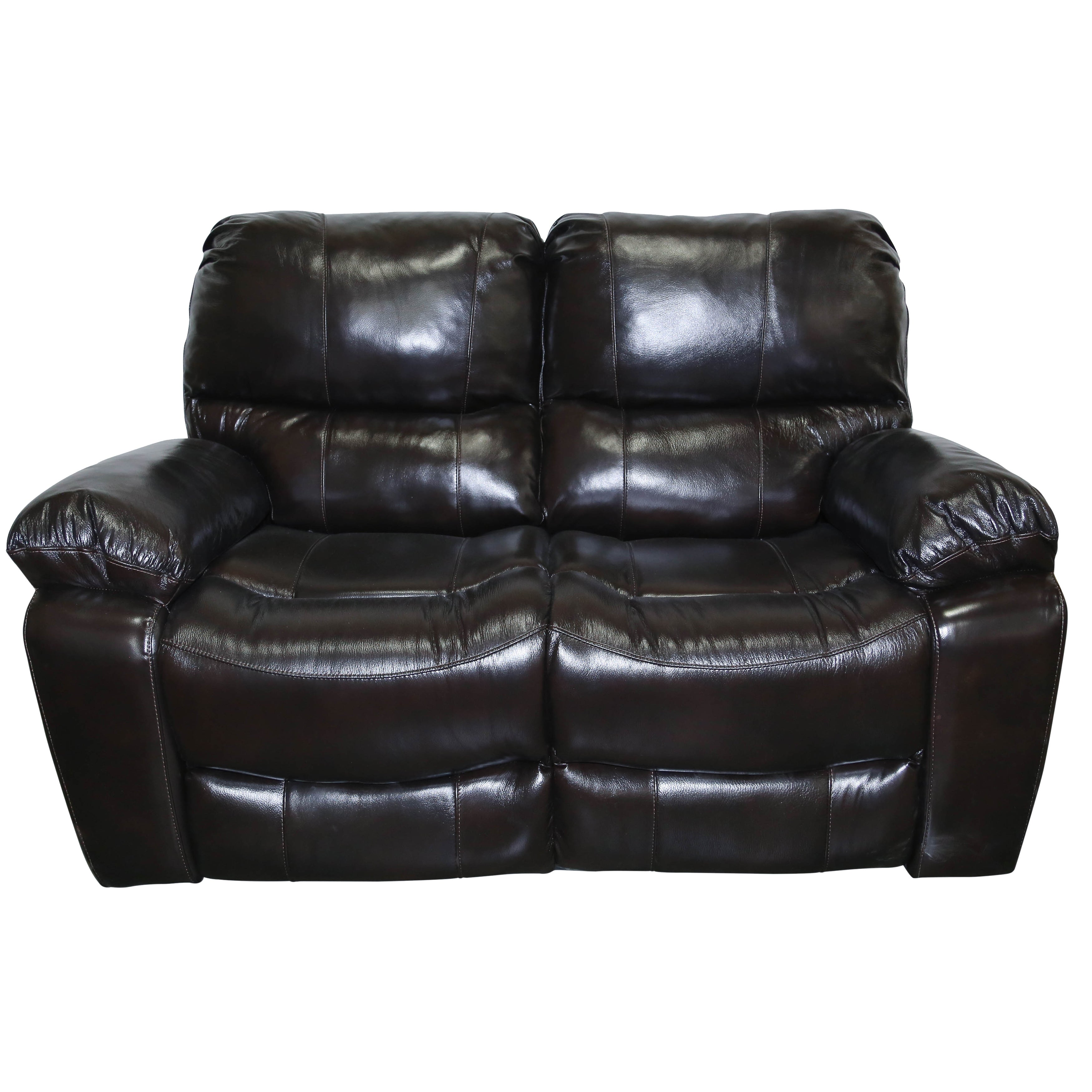 shop faux reclining casual leather black cranley pd homelegance loveseat