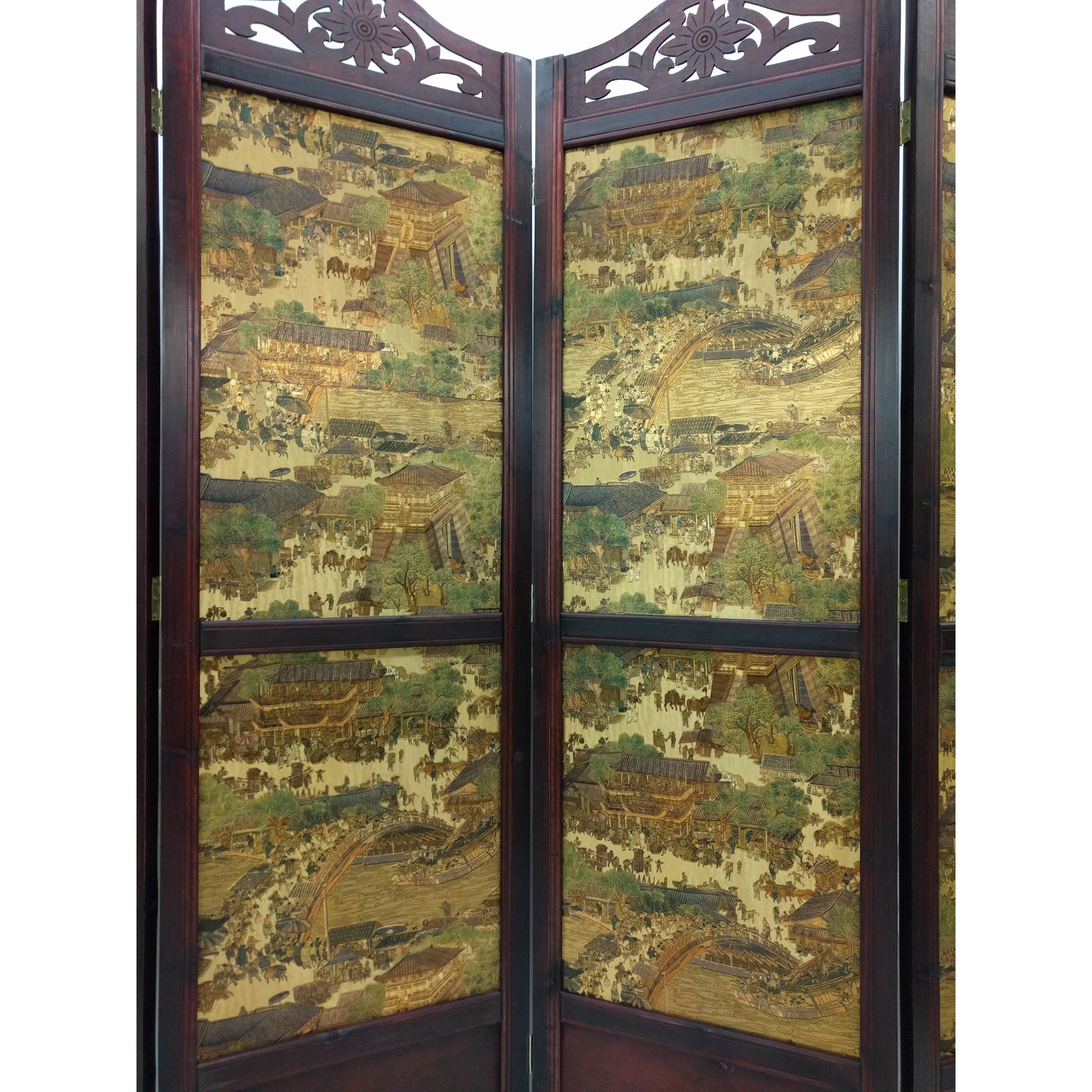Shop Vintage Ancient City style Wood 6 Tall Extra wide Room Divider