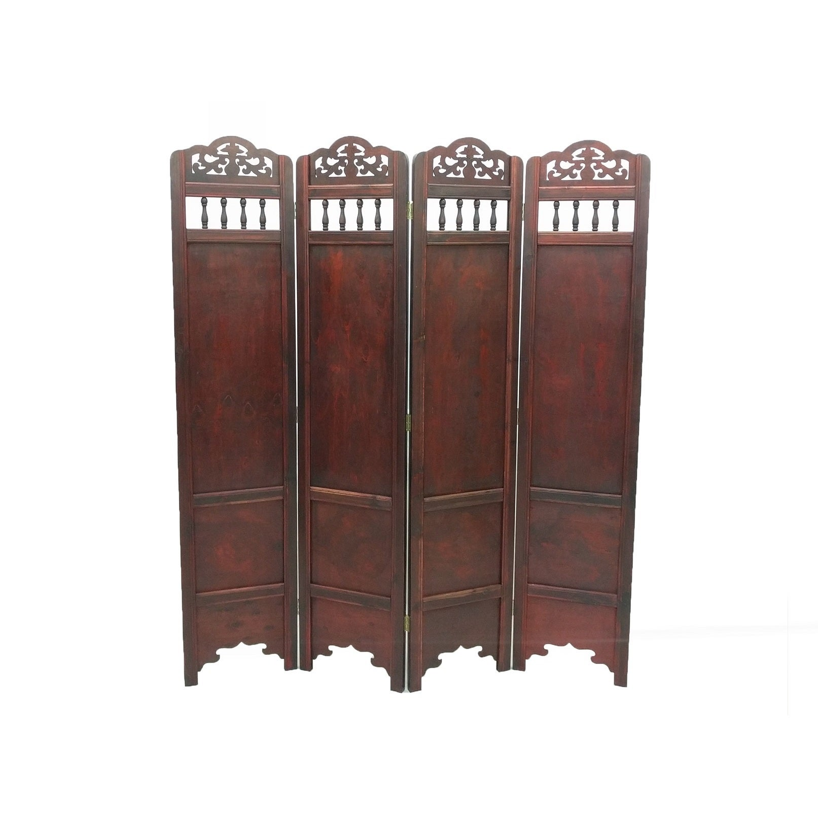 Shop Vintage Waterpaint Flower Wood 6 foot Room Divider Screen On