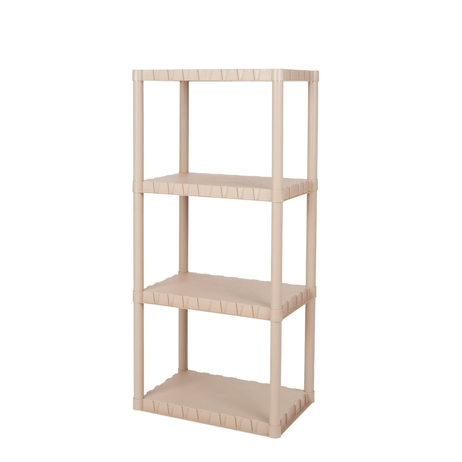 Shop Keter 4-tier 23 in. W x 15 in. D x 49 in. H Sand Freestanding Plastic Shelving Unit Storage Rack - Free Shipping On Orders Over $45 - Overstock.com - ...  sc 1 st  Overstock & Shop Keter 4-tier 23 in. W x 15 in. D x 49 in. H Sand Freestanding ...