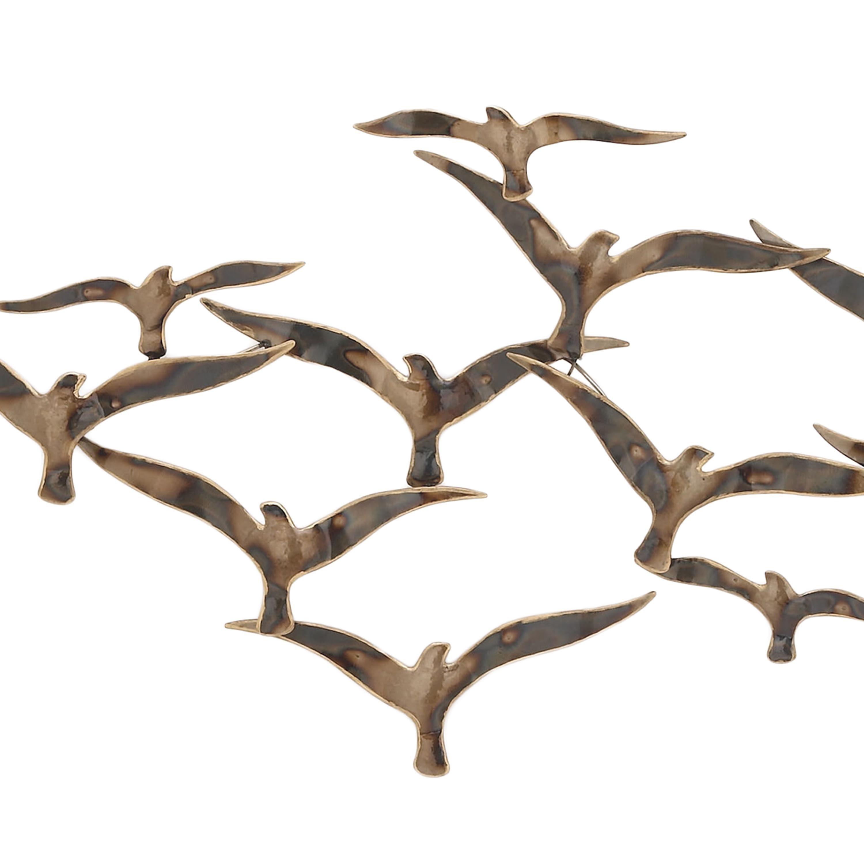 Urban Designs Flying Flock of Birds 43-inch Metal Wall Art