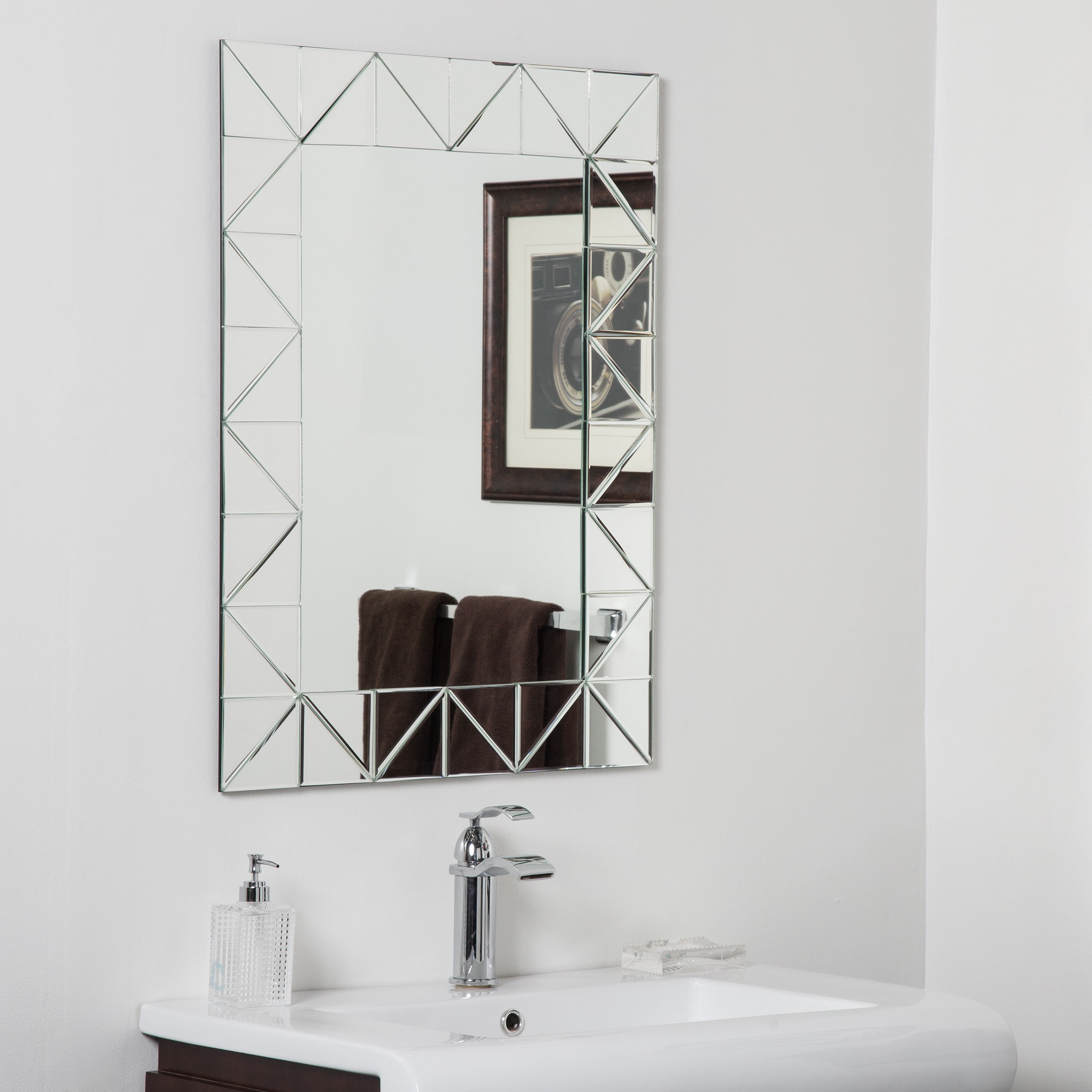 Shop Miami Modern Bathroom Mirror - Free Shipping Today - Overstock ...