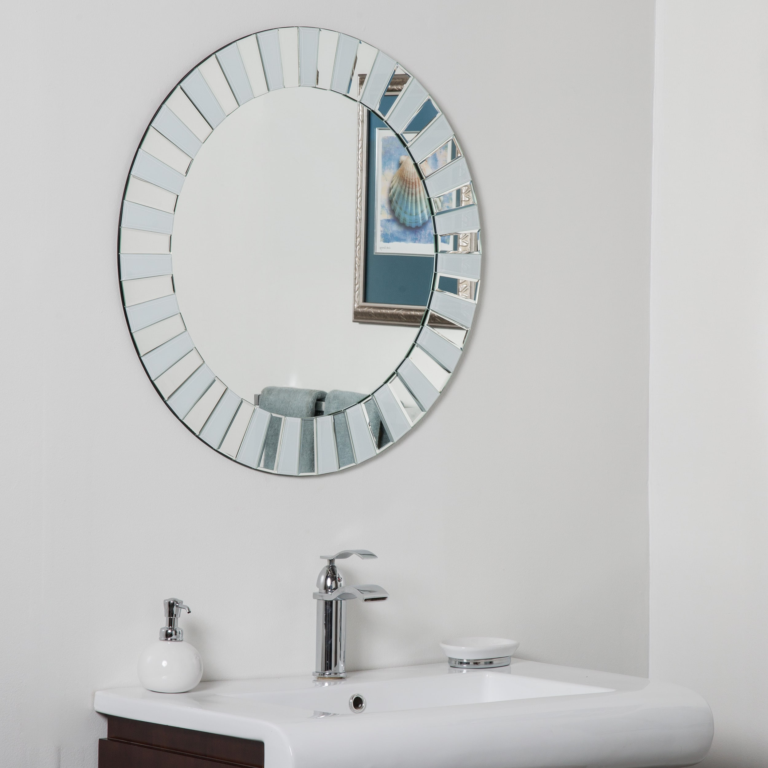 Kiara Modern Bathroom Mirror - Free Shipping Today - Overstock ...