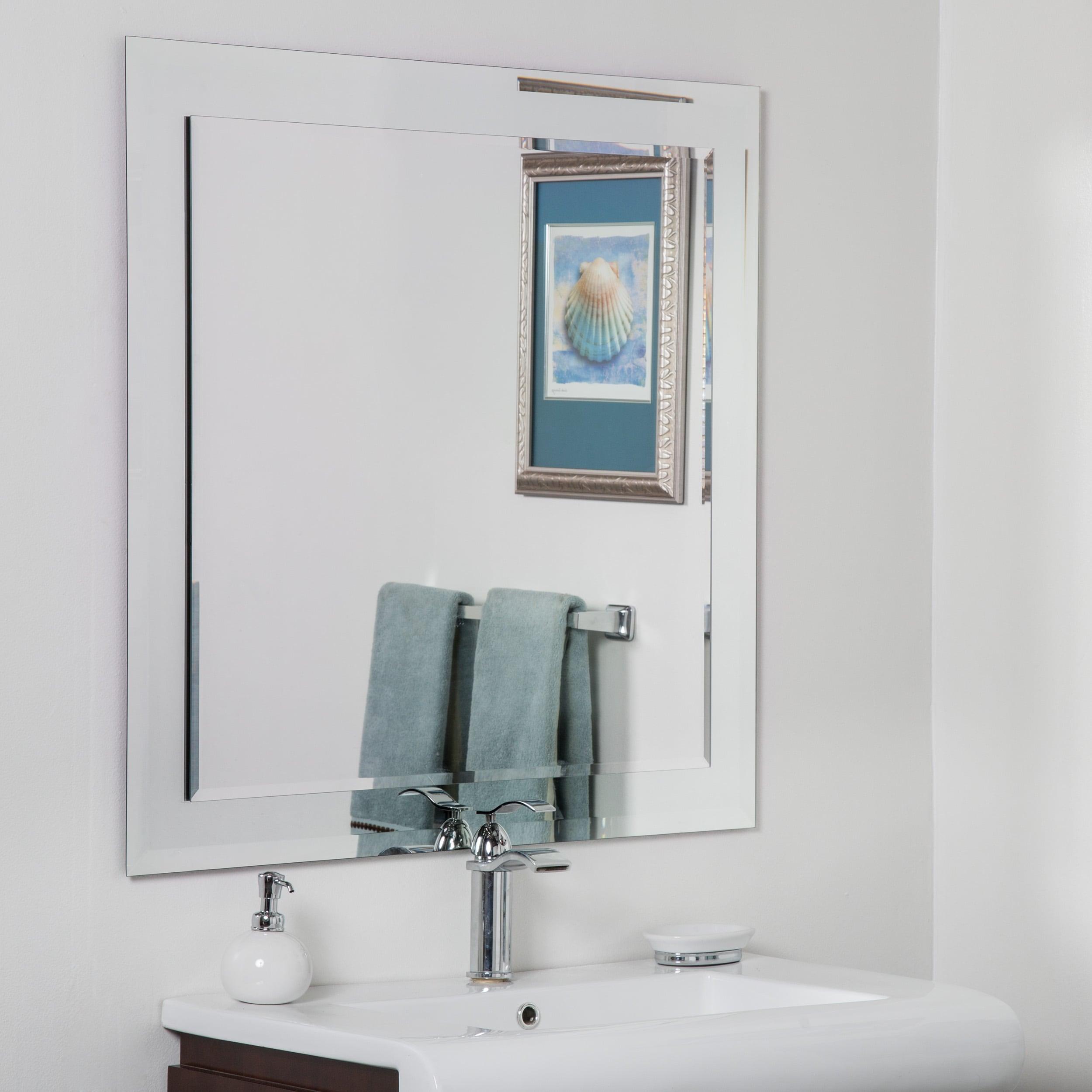 Shop St. Petersburg Modern Bathroom Mirror - Silver - N/A - Free ...