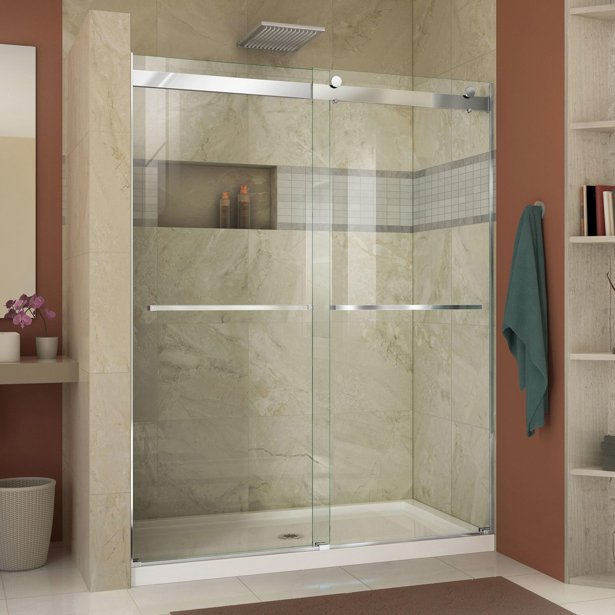 Shop DreamLine Essence 44 to 48 in. Frameless Bypass Shower Door ...