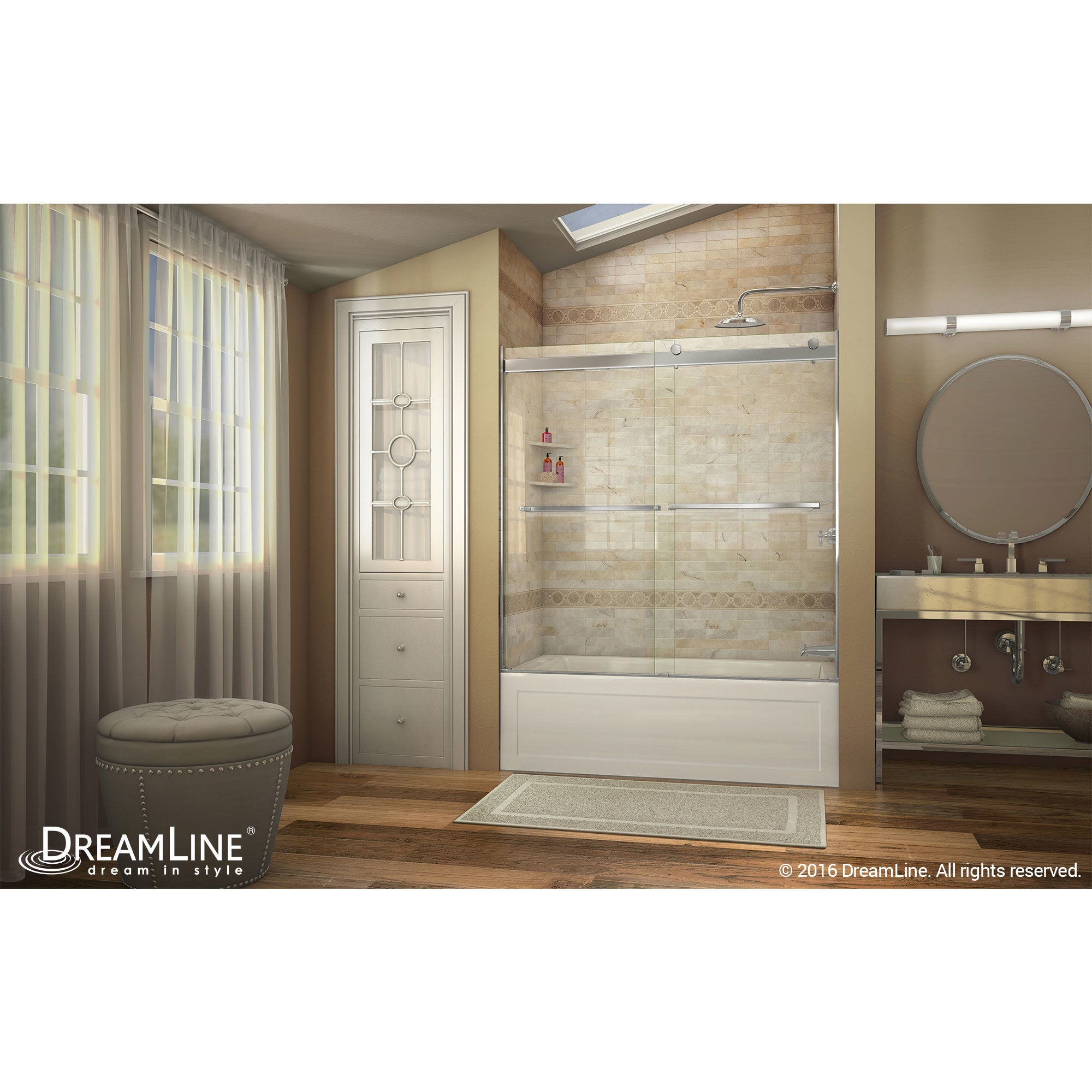 DreamLine Essence 56 to 60 in. Frameless Bypass Tub Door - Free ...