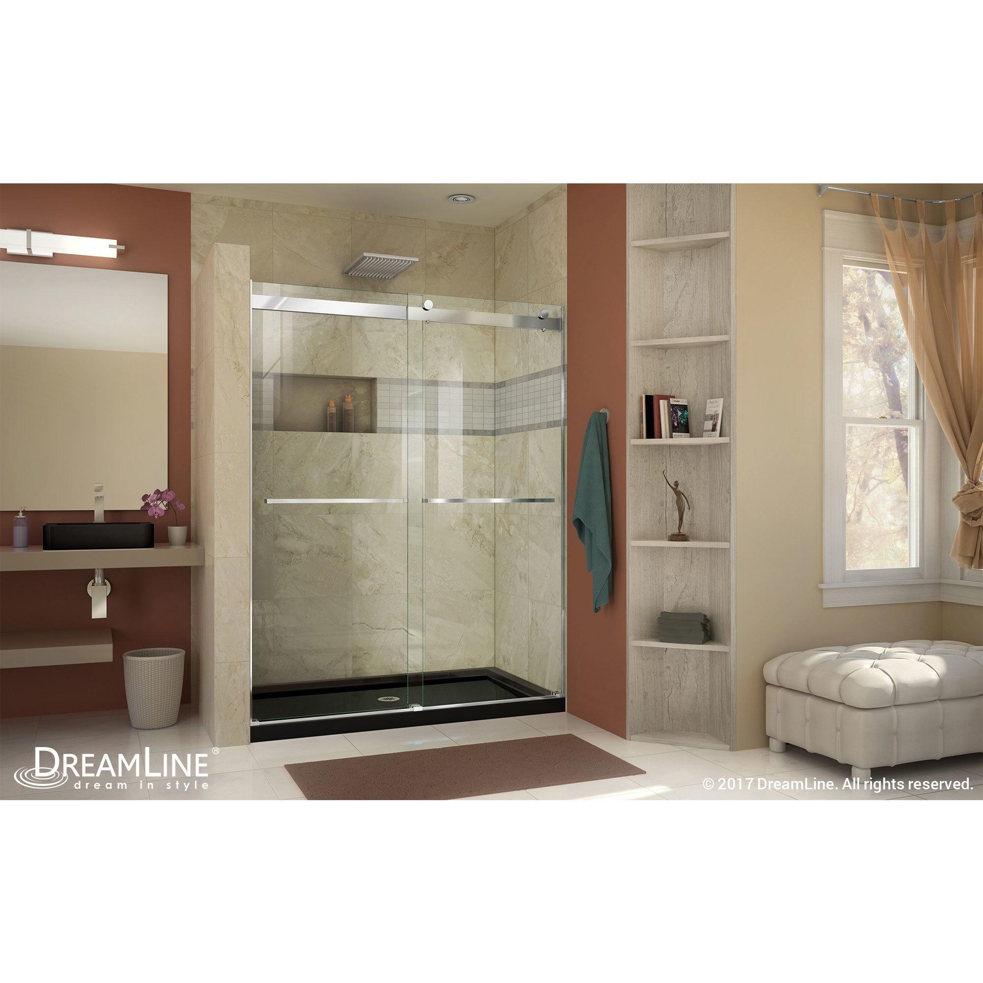 DreamLine Essence 56 to 60 in. Frameless Bypass Shower Door - Free ...