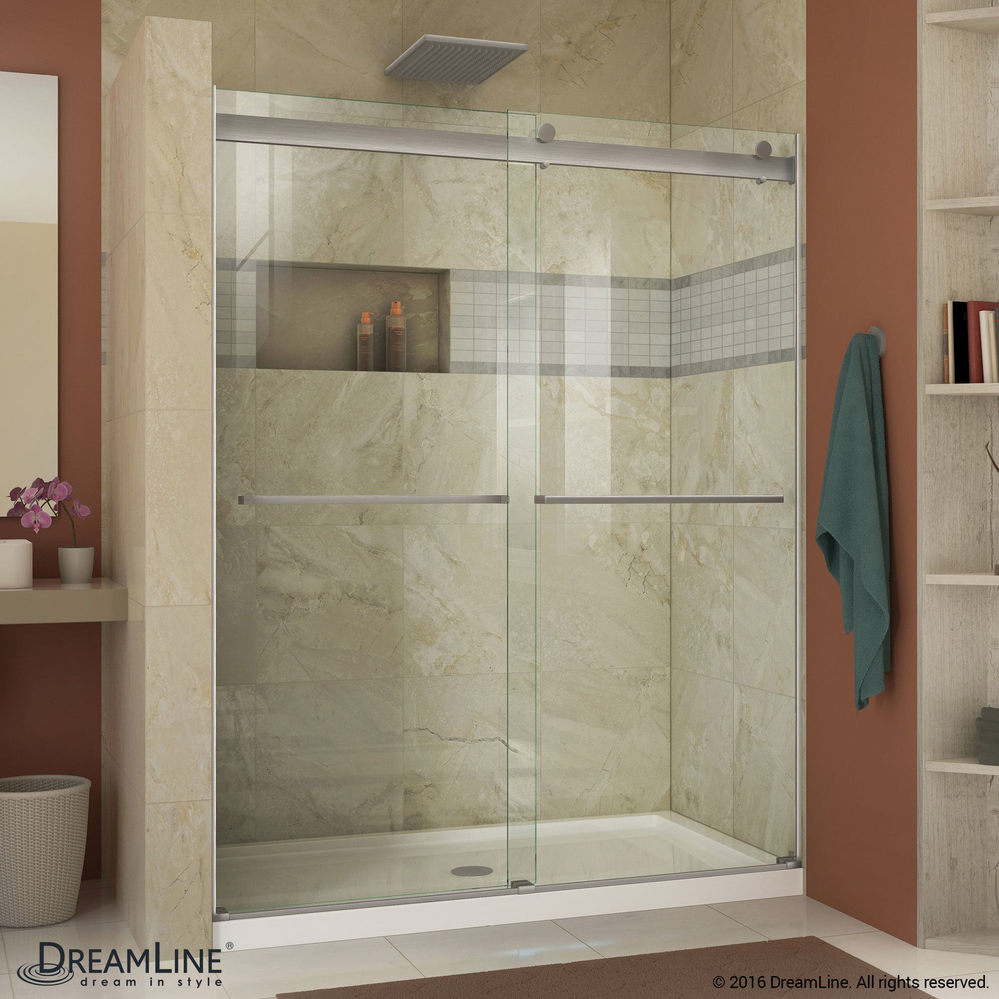 Frameless Bypass Shower Door - Free Shipping Today - Overstock.com - 19747226 & DreamLine Essence 56 to 60 in. Frameless Bypass Shower Door - Free ...