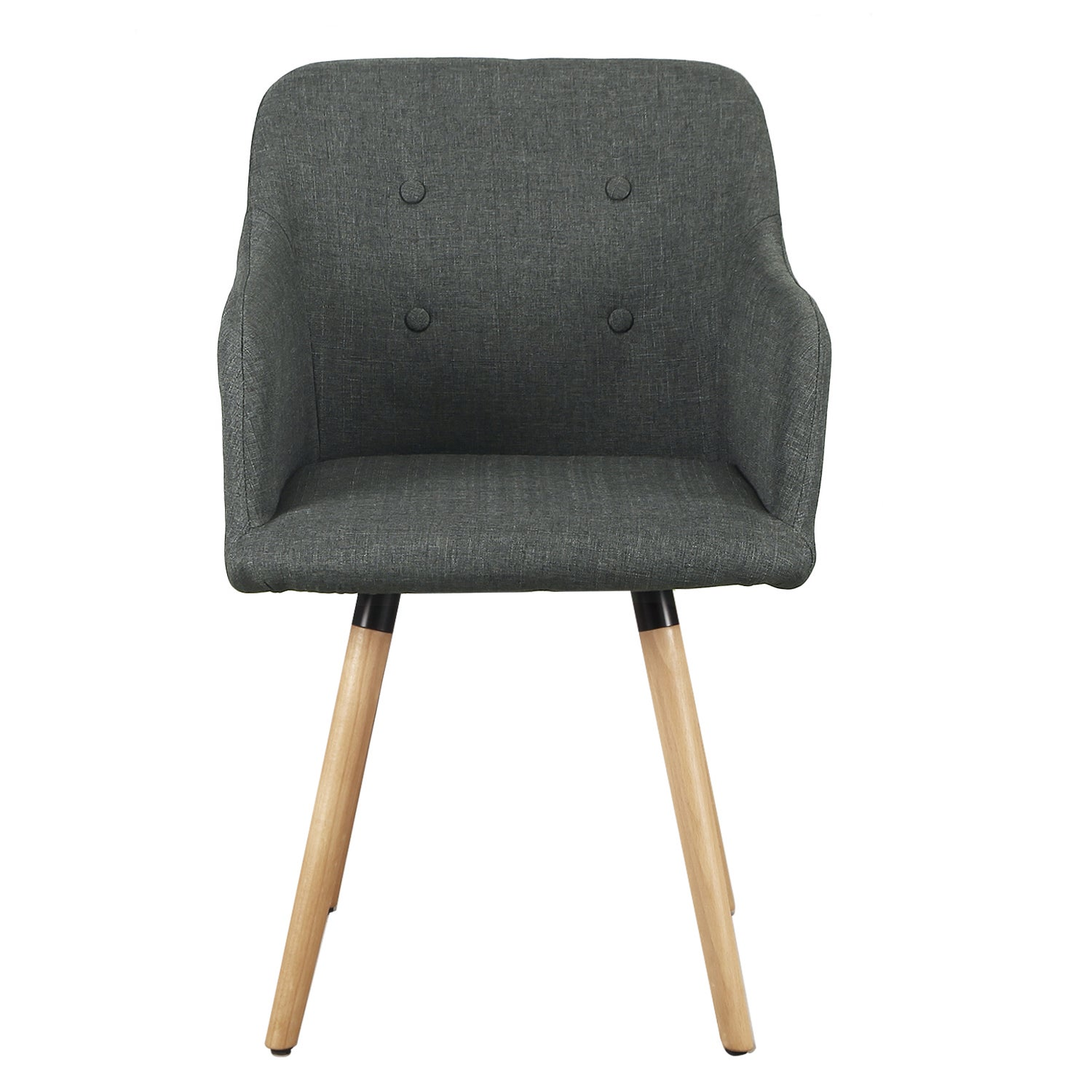 Beau Shop Fabric Durable Leisure Chair With Buttons And Wood Leg   Free Shipping  Today   Overstock.com   13002995