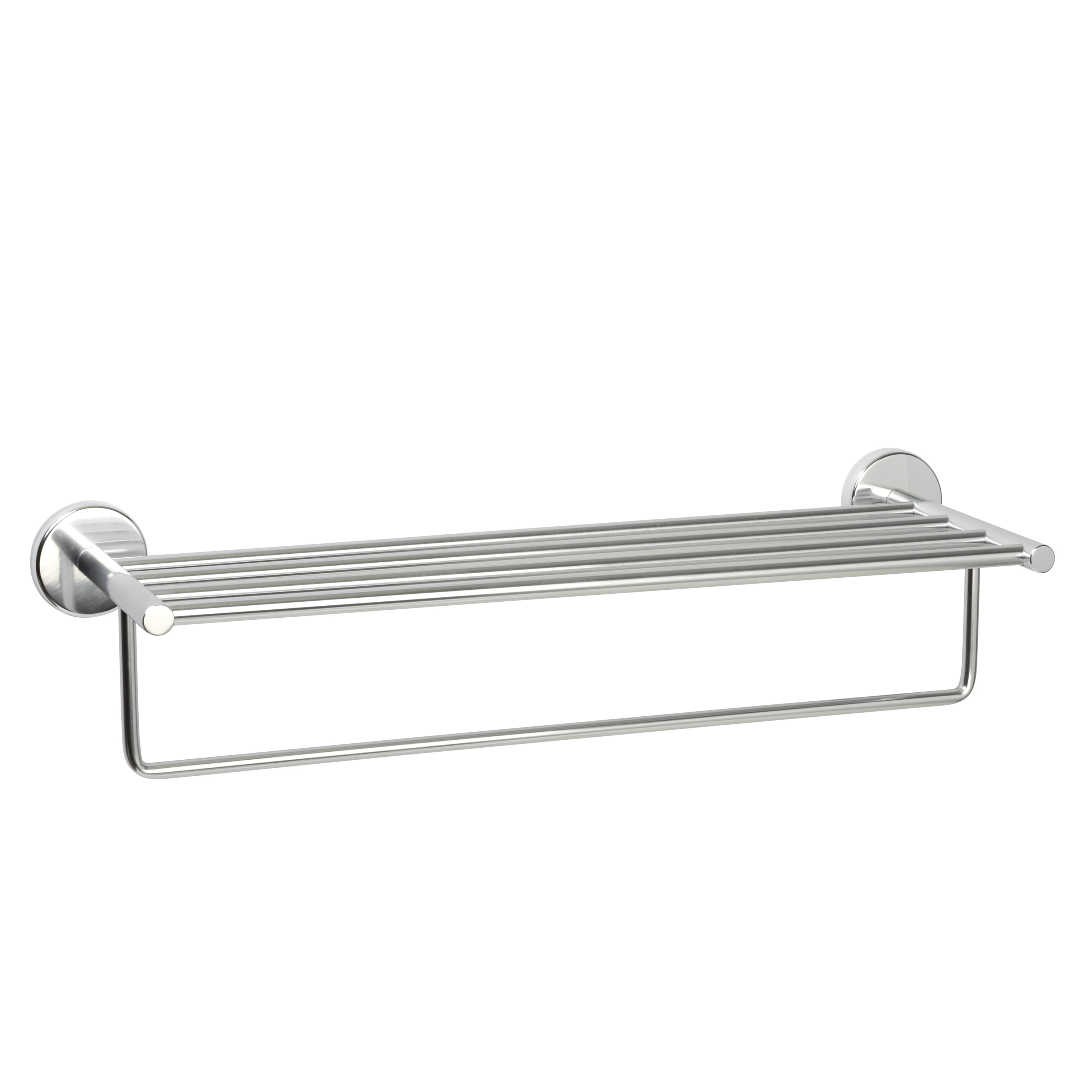 Never Rust Commercial Aluminum Hotel Towel Shelf - Chrome - Free ...