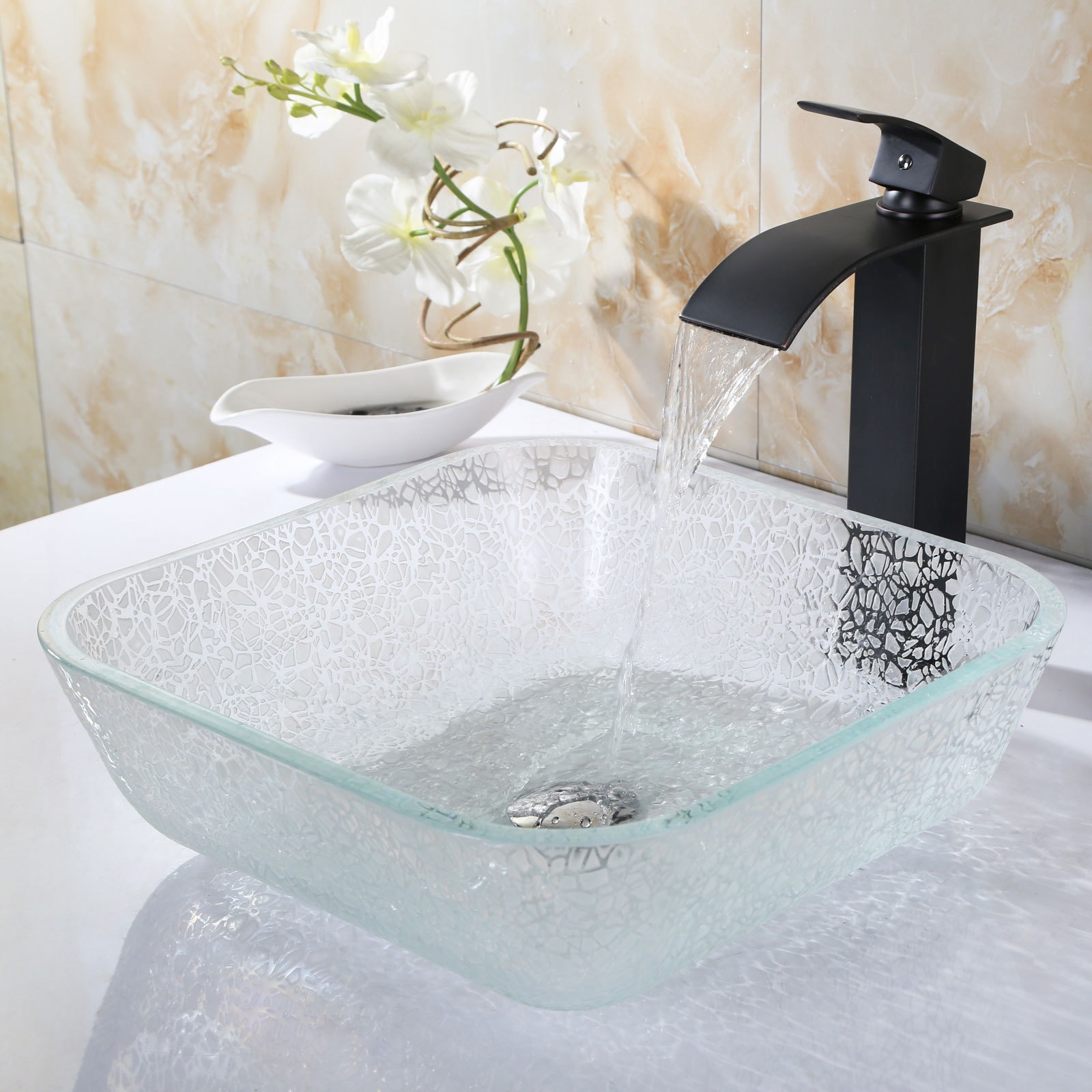 Shop Elite 8804 Single Handle Lever Bathroom Lavatory Faucet - Free ...
