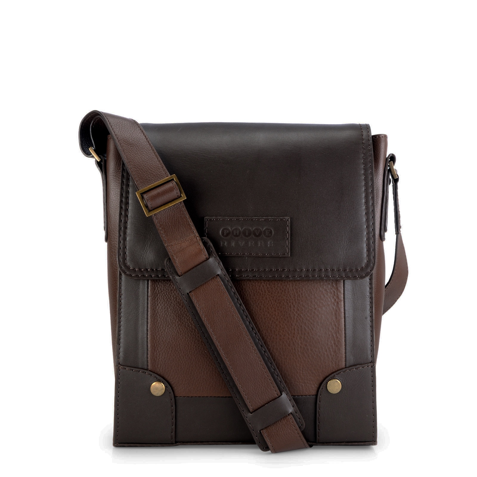 9e18b958a0 Shop Handmade Phive Rivers Leather Messenger Bag (Brown) (Italy) - Free  Shipping Today - Overstock - 13009207