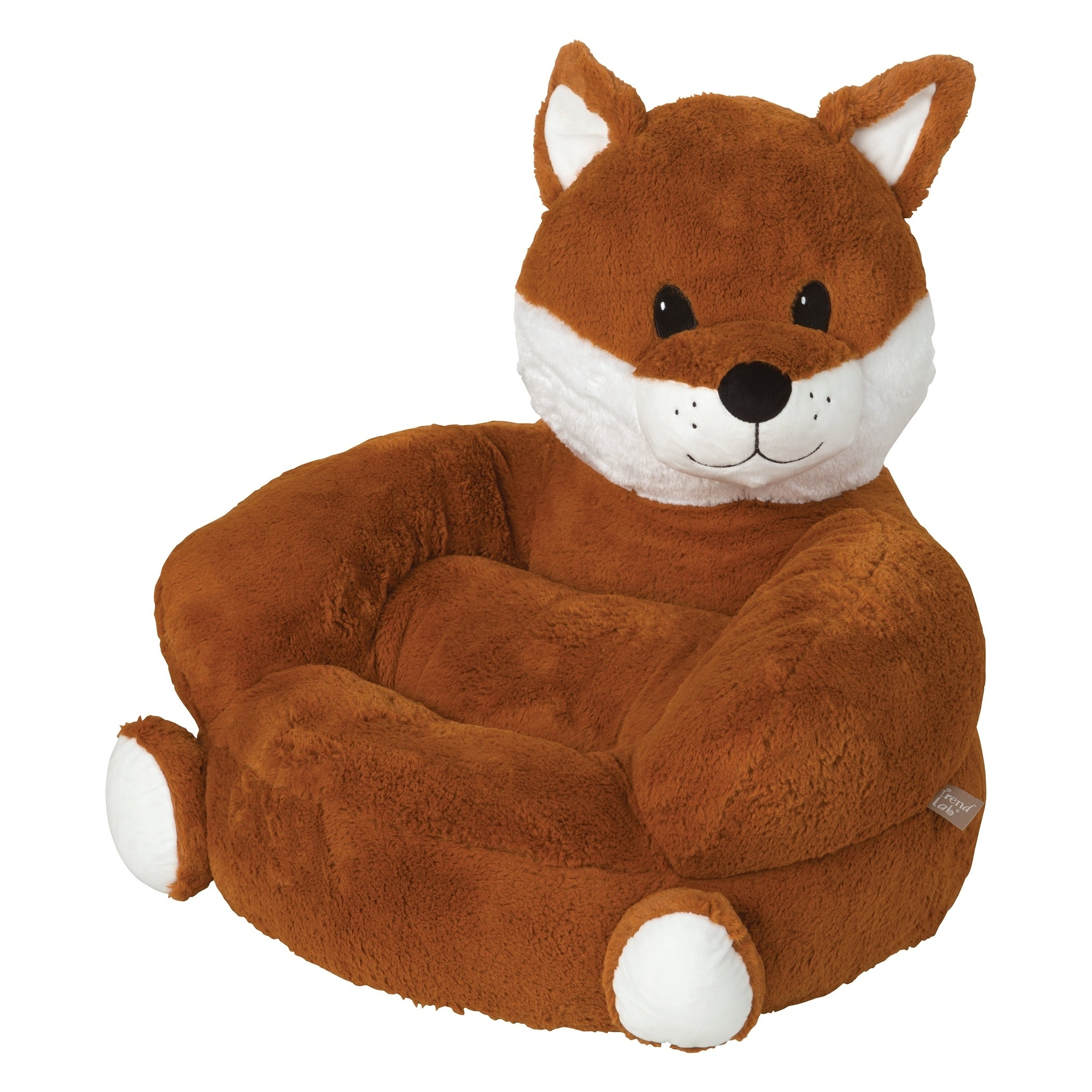 Trend Lab Childrenu0027s Plush Fox Character Chair   Free Shipping Today    Overstock.com   19753246