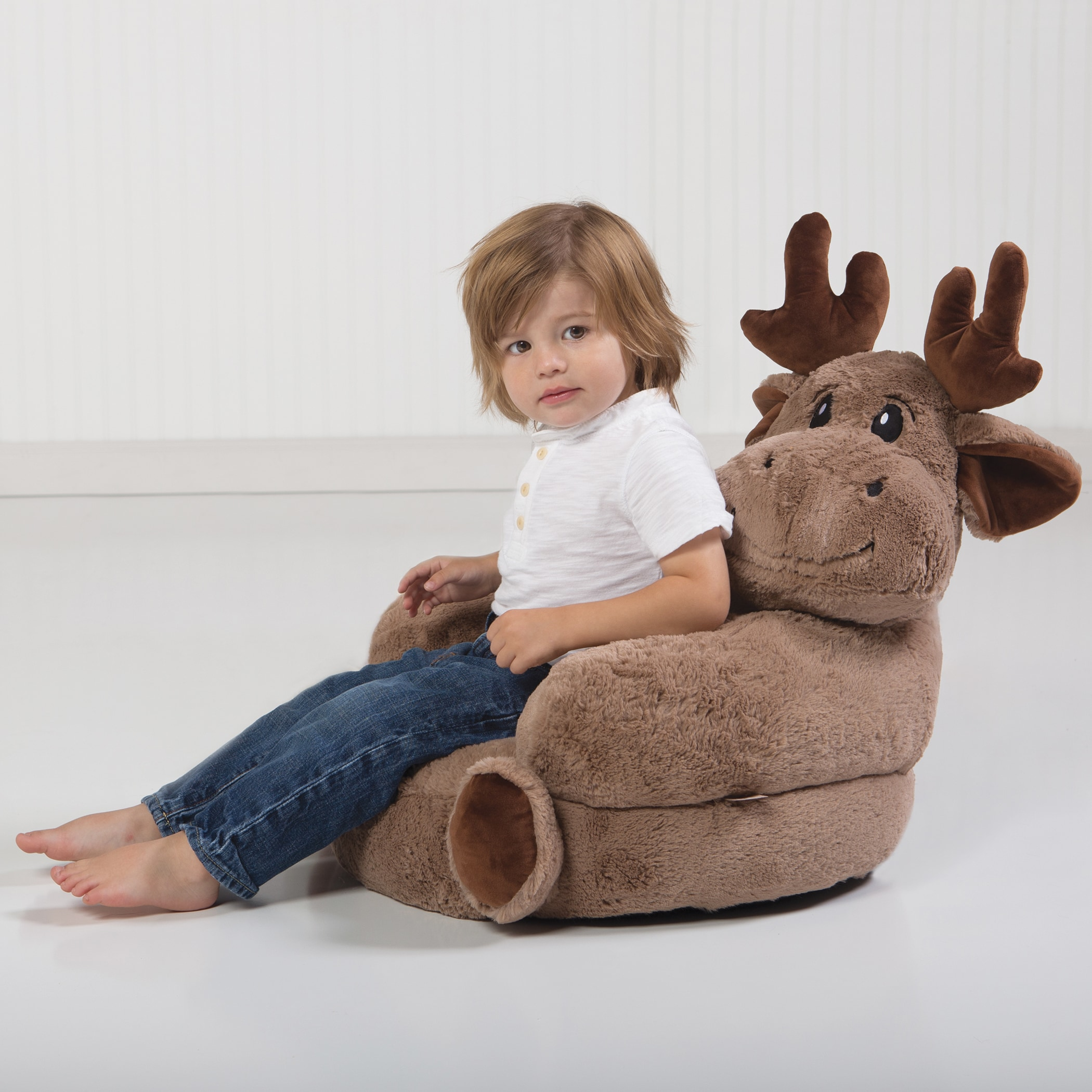 Charmant Shop Trend Lab Childrenu0027s Plush Moose Character Chair   Free Shipping Today    Overstock.com   13009909
