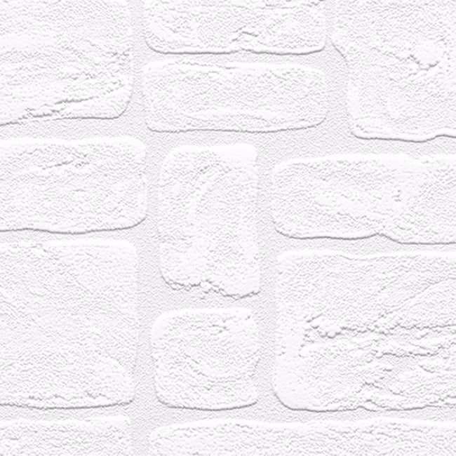 Shop Andrew White Textured Paintable Bricks 33 Foot X 21 Wallpaper   Free  Shipping On Orders Over $45   Overstock.com   13024705