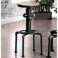 Furniture of America Protector Hydrant Inspired Metal Swivel Bar Stool (Set of 2)