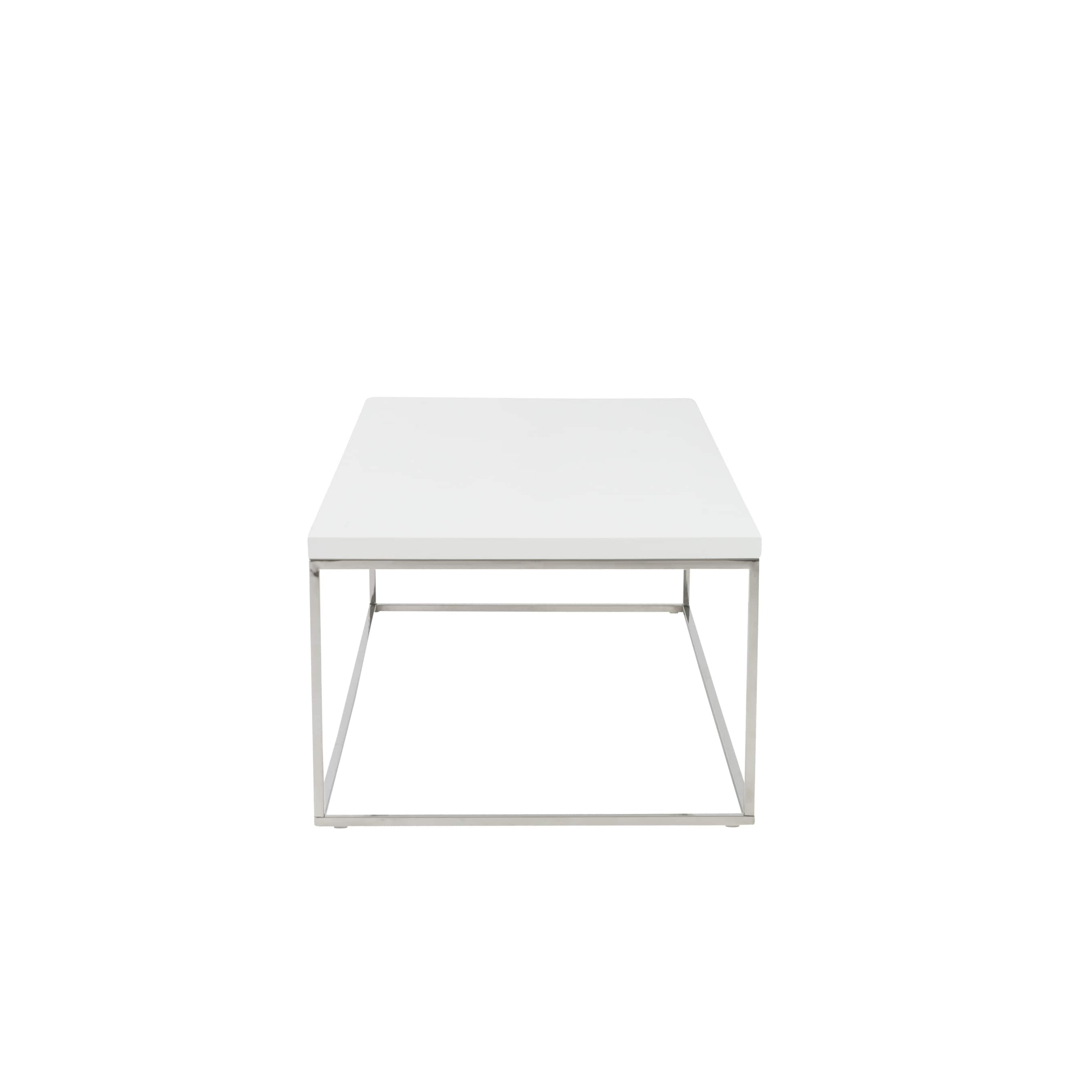 end rectangle product polished shipping teresa steel coffee home tables base garden overstock table today style in white free euro stainless with