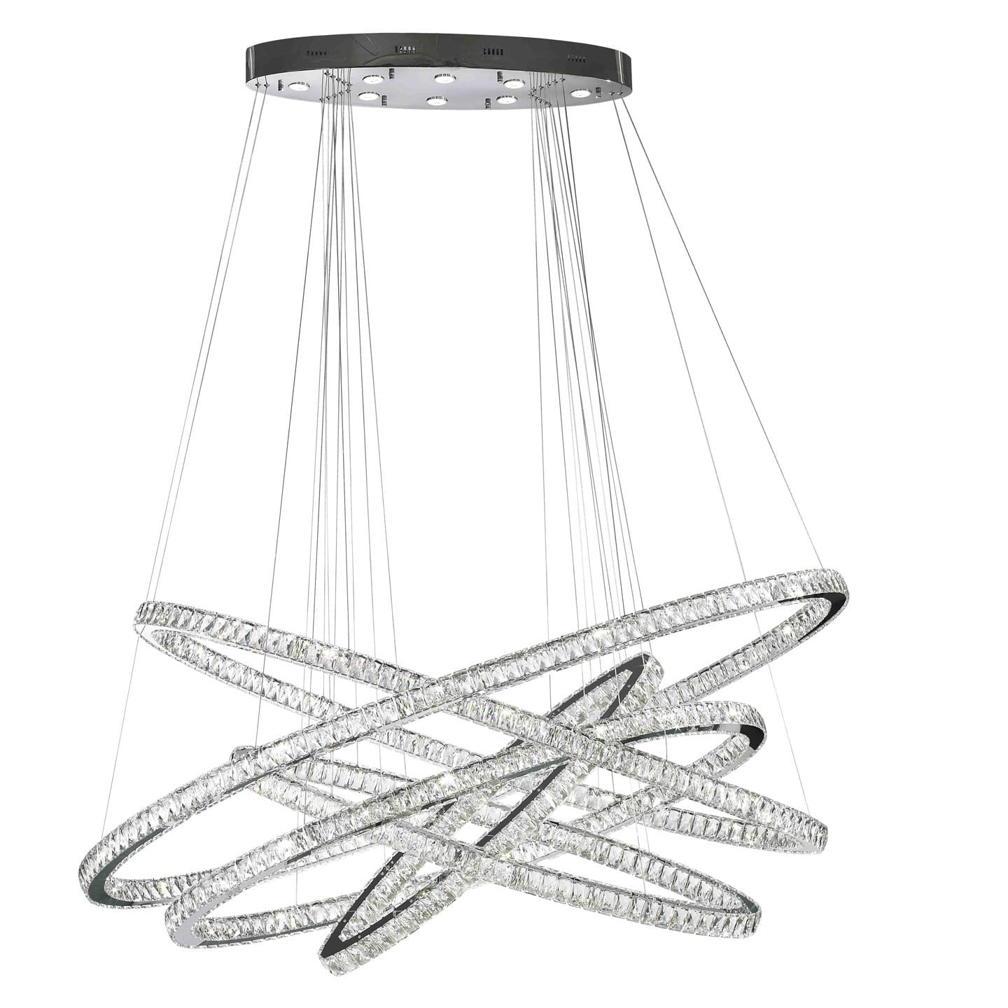 Modern Euro Cosmos LED Collection 102 Light Chrome Finish Crystal