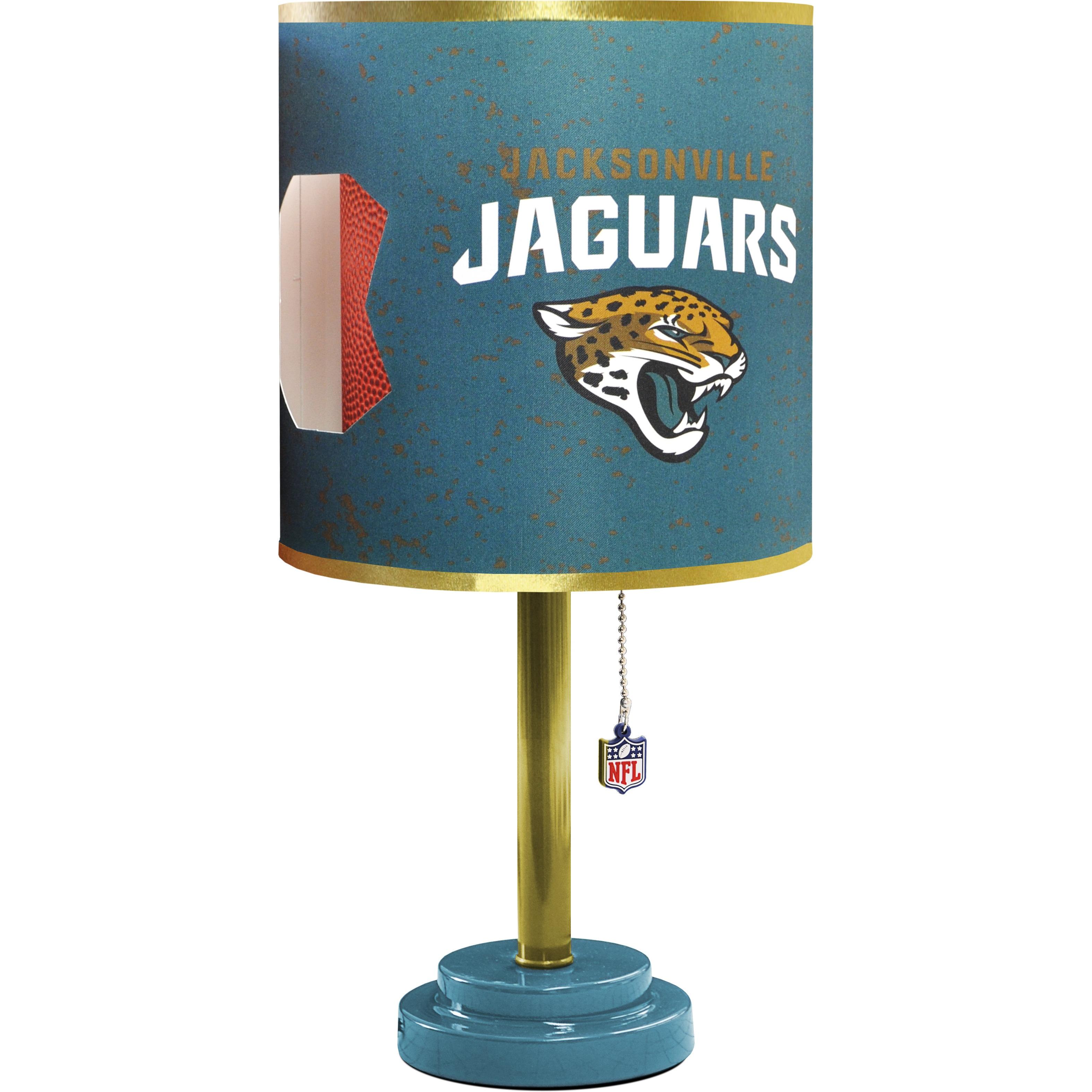 6d3b08b2 Jacksonville Jaguars Wood and Plastic Table Lamp