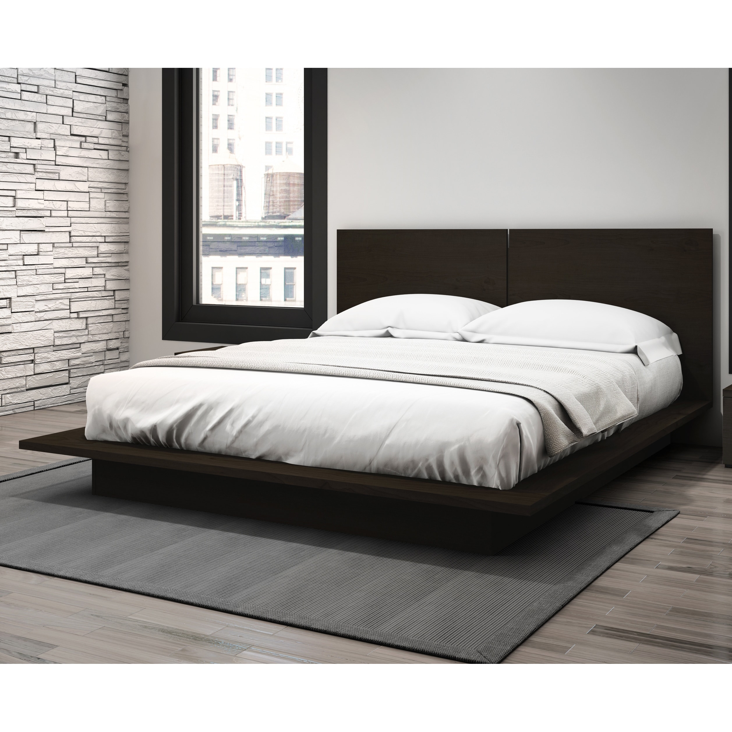Shop Stellar Home Furniture Queen Low Profile Platform Bed Free
