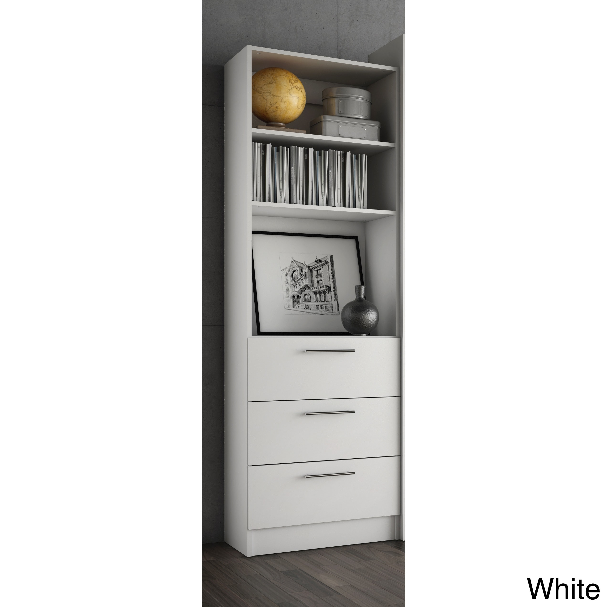 Shop Stellar Home Furniture Storage Unit With Drawers   Free Shipping Today    Overstock.com   13044064