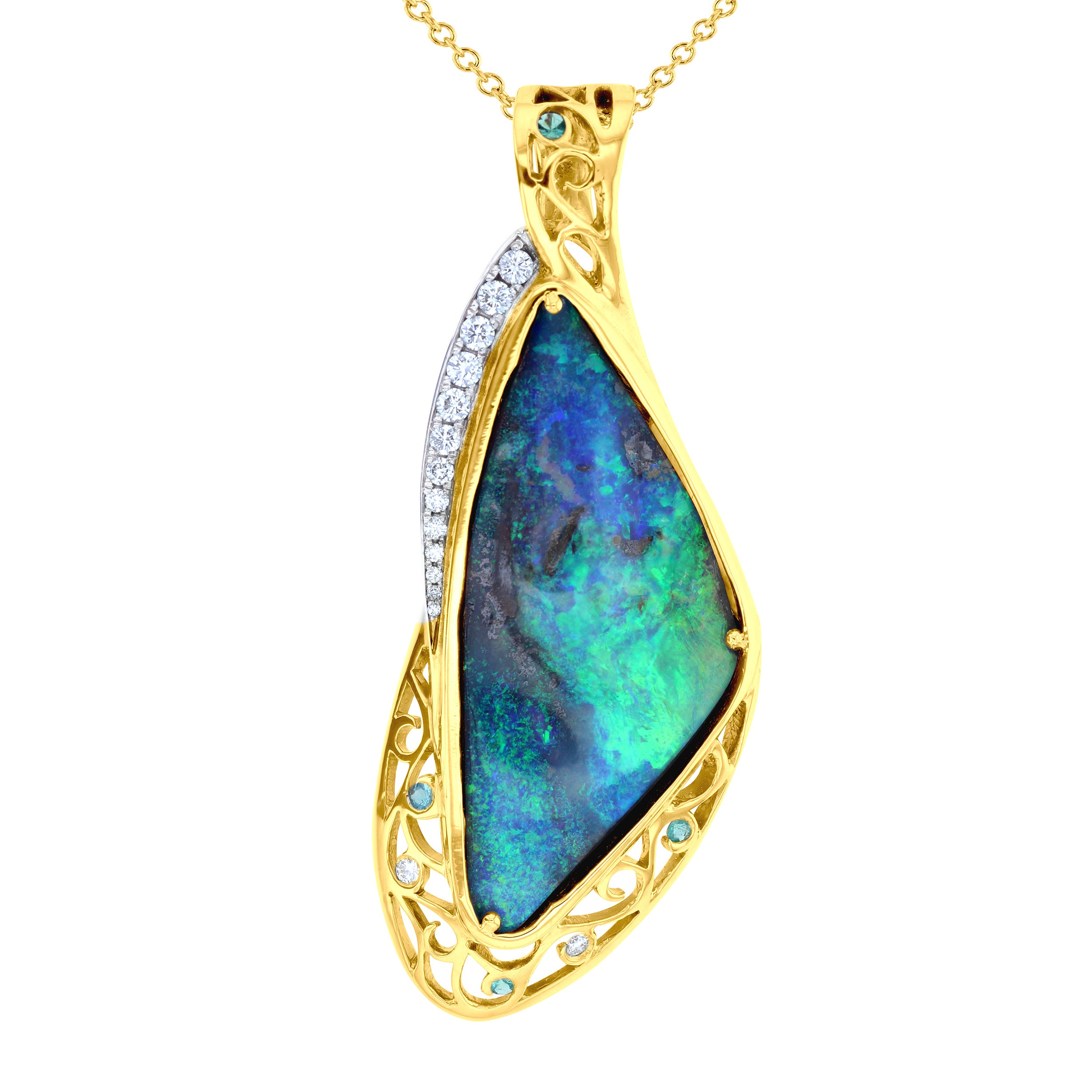 products gold kalled boulder tsavorite pearls opal pendant gallery chocolate night the cap pearl