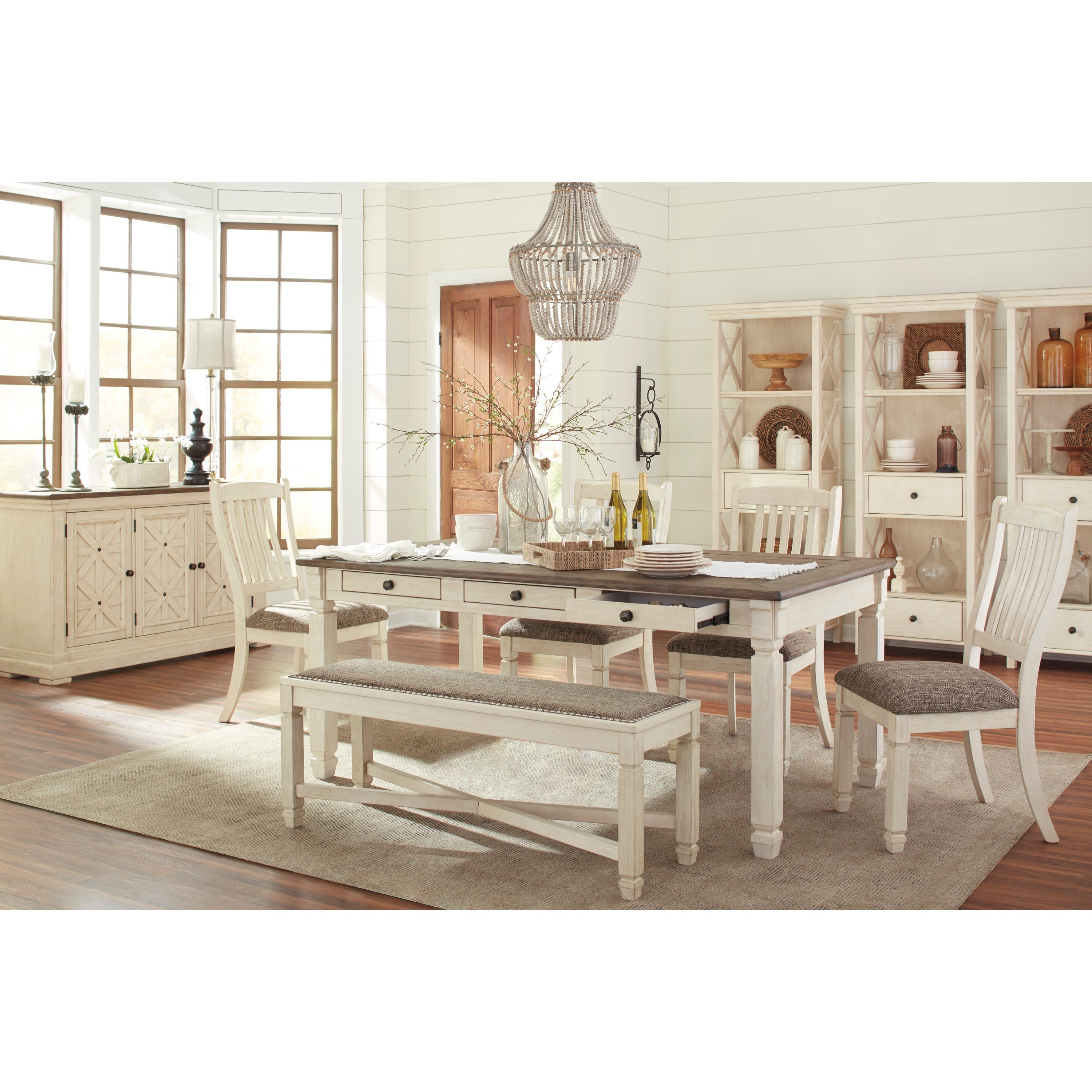 Signature Design by Ashley Bolanburg Two-tone Dining Room Table with ...