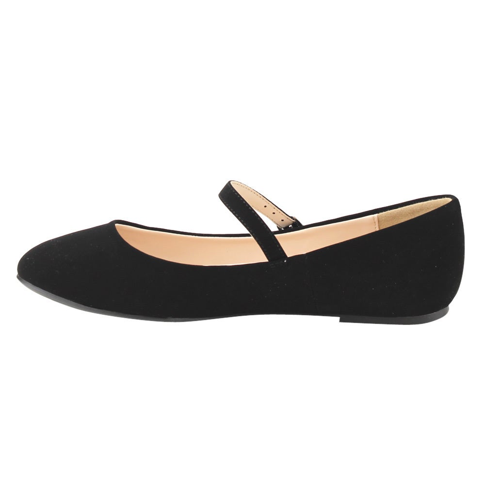 98e39a09a Shop CityClassified Women's FE72 Plain Ankle Strap Mary Jane Ballet Flats -  Free Shipping On Orders Over $45 - Overstock - 13047037