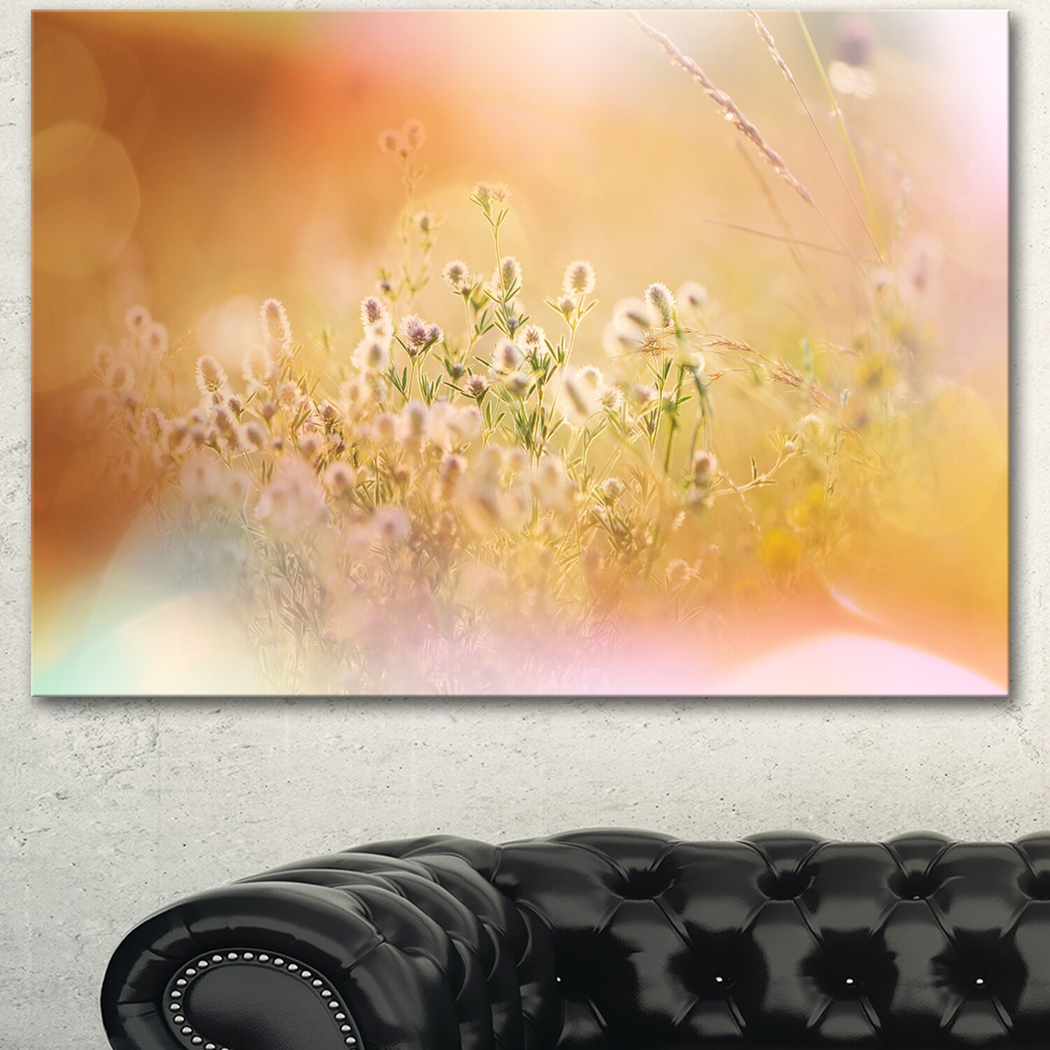 Wild Purple Flowers on Light Background - Large Flower Wall Artwork ...