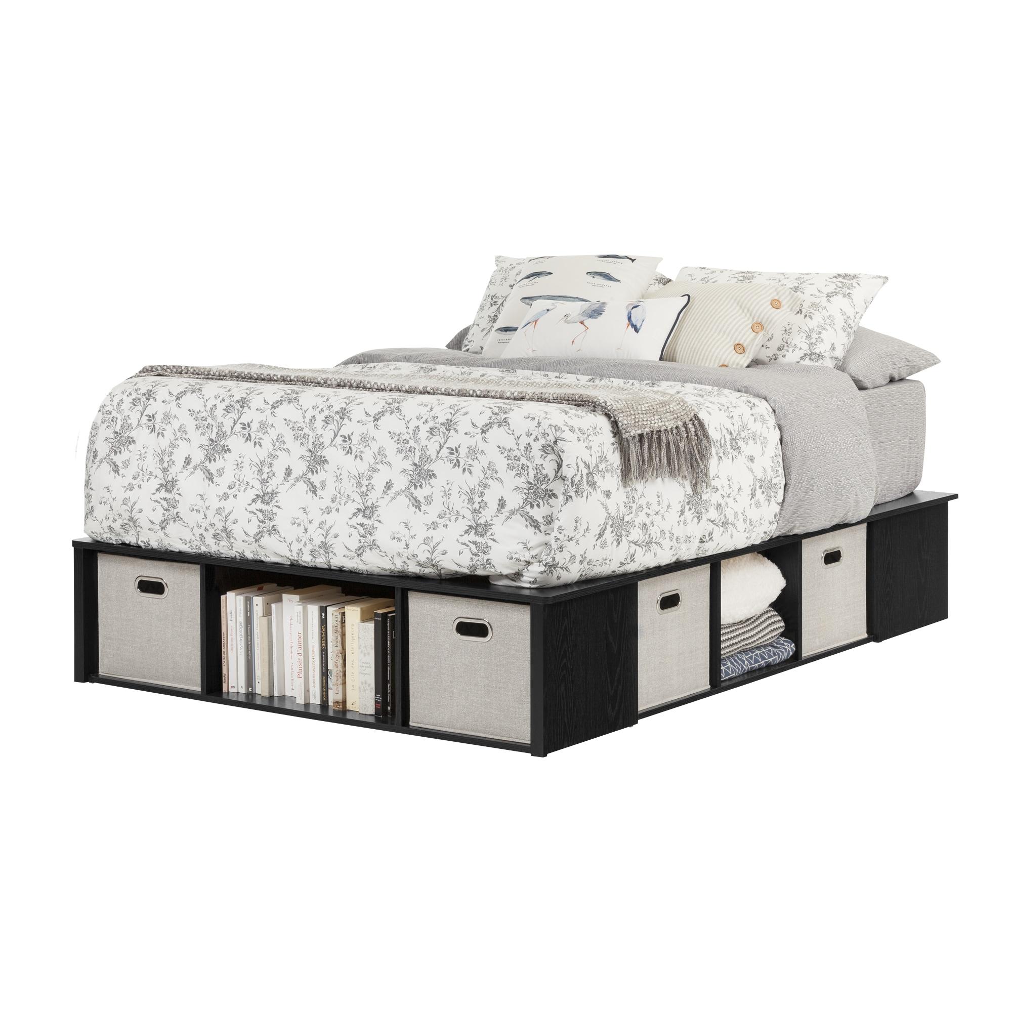 Oliver James Worner Full Size Black Oak Platform Storage Bed Free Shipping Today 13050599