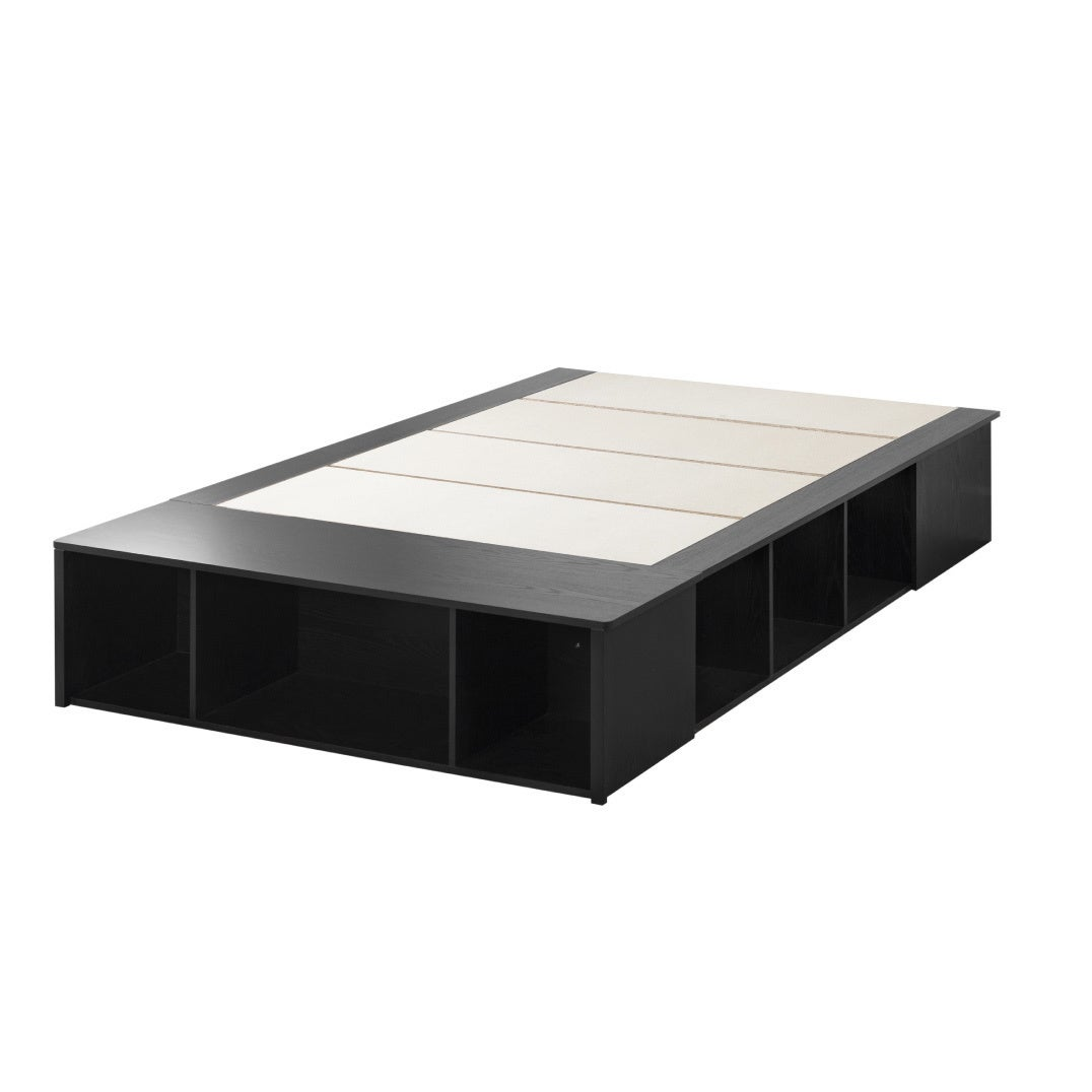 d0bfb6d89cb Shop Full-size Black Oak Platform Storage Bed - Free Shipping Today -  Overstock - 13050599