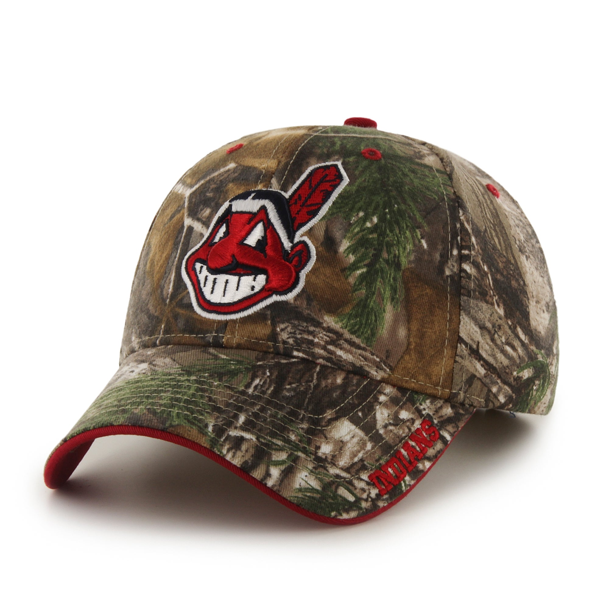 best sneakers 27e05 c5be6 ... fit flex cap 85e08 b997c  france shop cleveland indians mlb realtree  cap free shipping on orders over 45 overstock 13055207 83e09