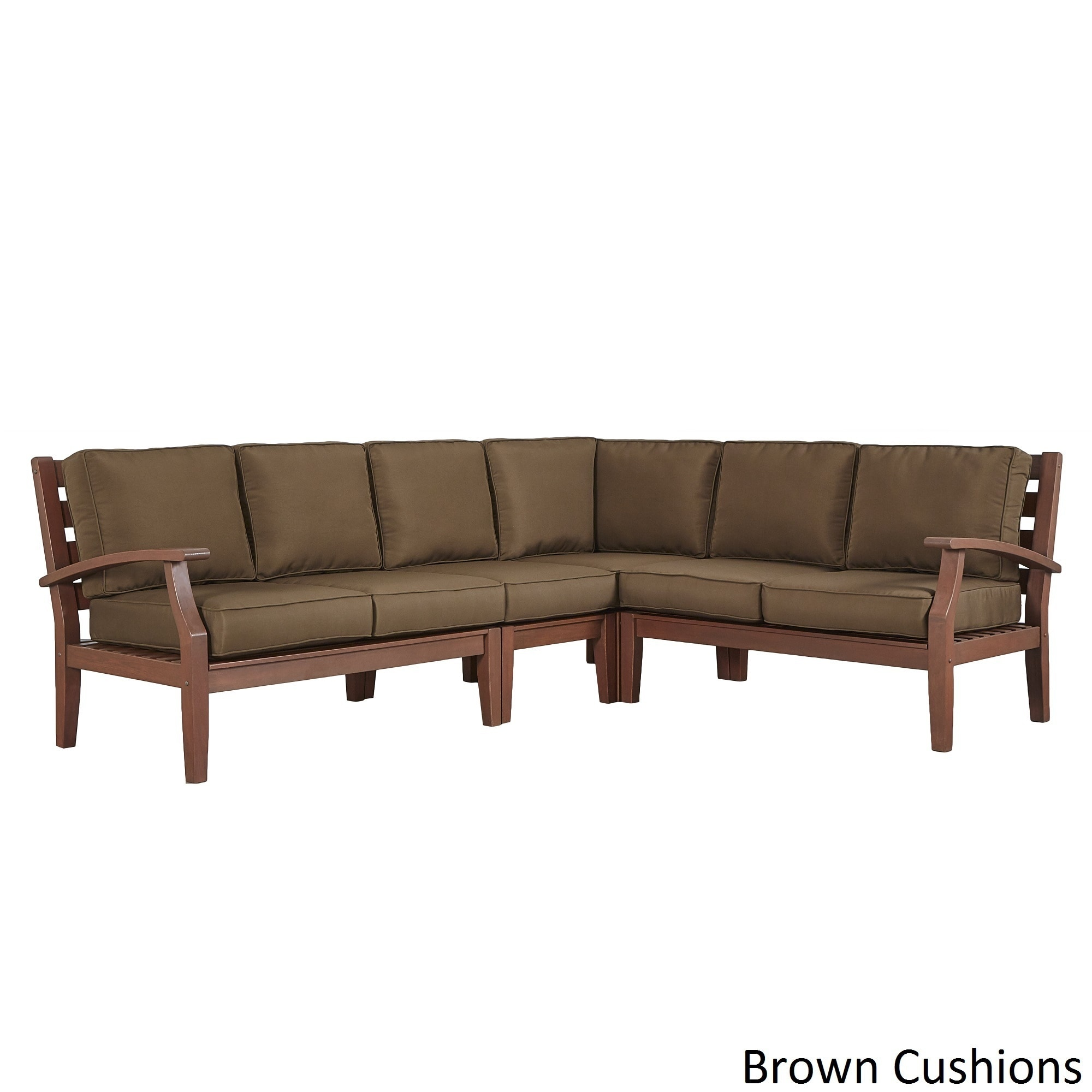 Ordinaire Shop Yasawa Modern Brown Outdoor Cushioned Wood Sectional INSPIRE Q Oasis    On Sale   Free Shipping Today   Overstock.com   13059191