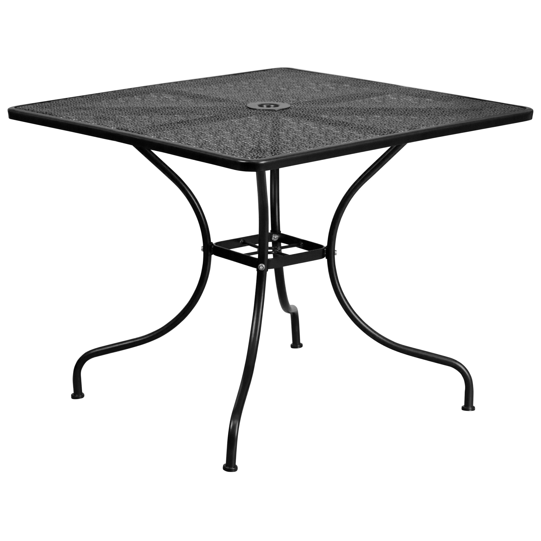 Shop havenside home belvon steel indoor outdoor patio table free shipping today overstock com 20340353