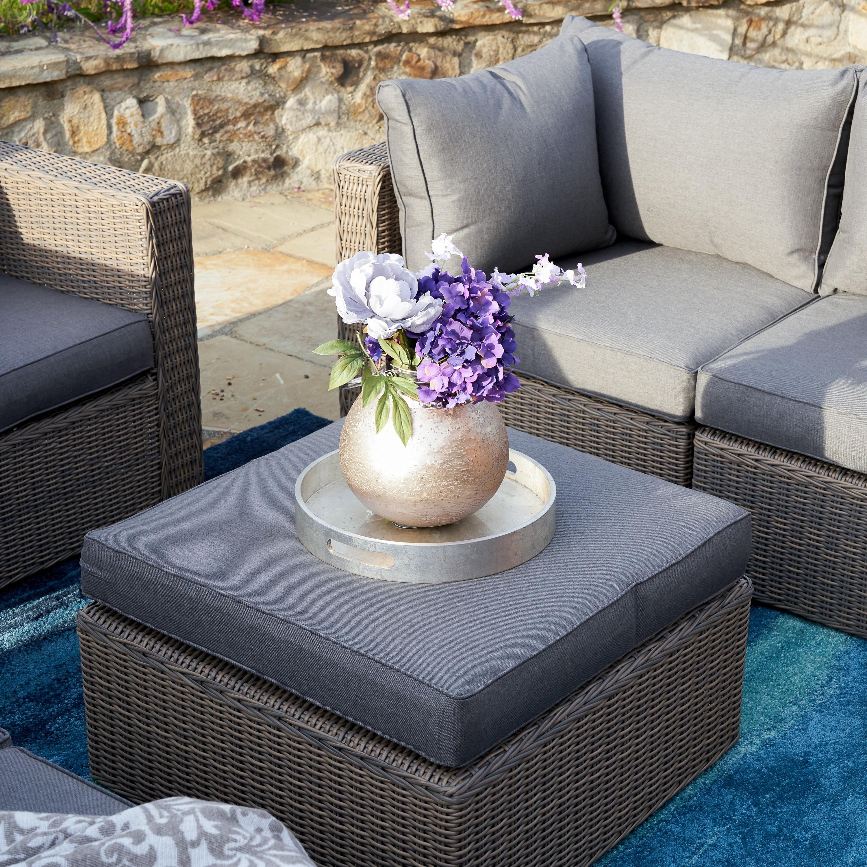 Corvus Sevilla 7 piece Grey Wicker Patio Furniture Set Free