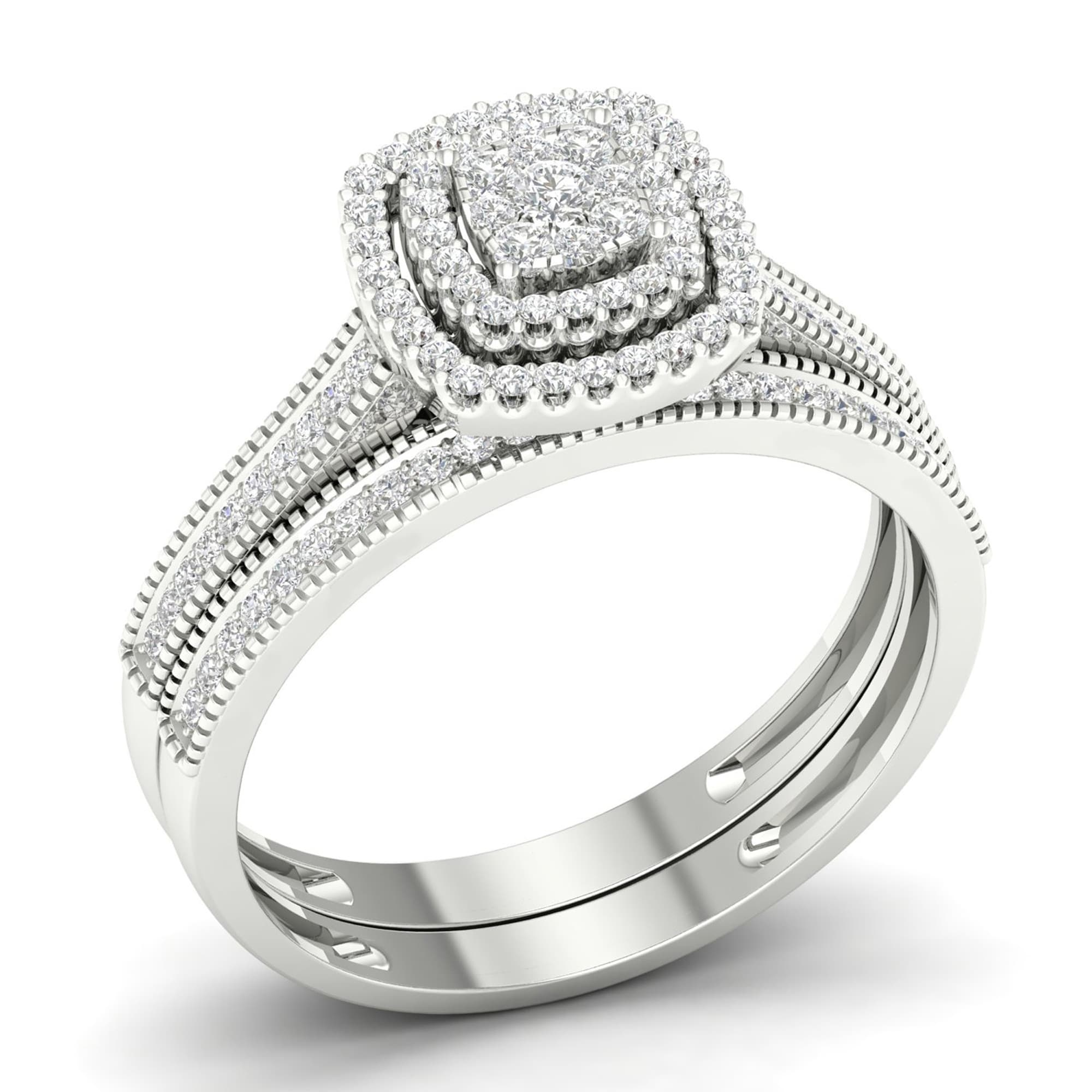 white product gold cluster ring martin jewellers diamond gear