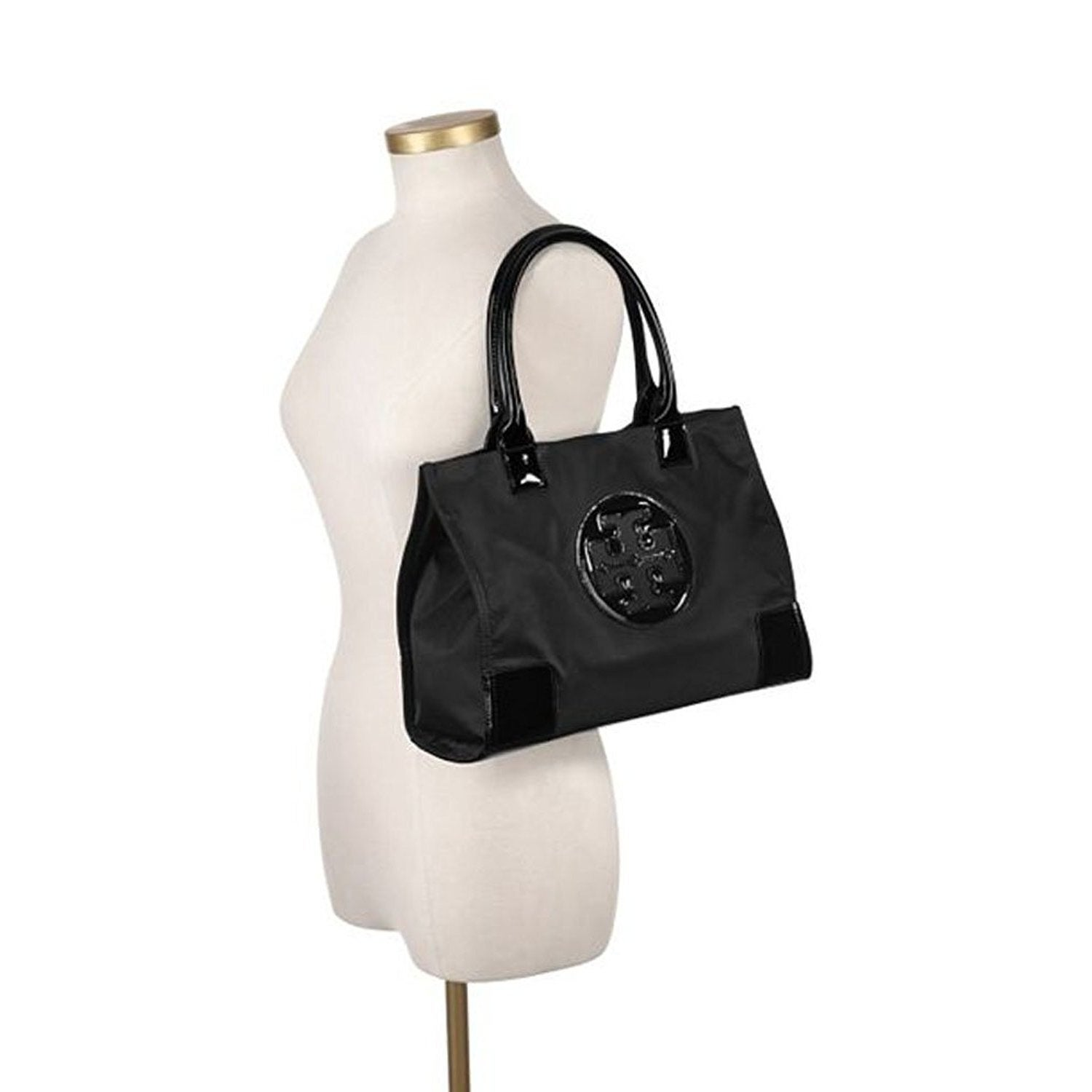 97c8759c6d8 Shop Tory Burch Mini Ella Black Nylon Tote - Free Shipping Today -  Overstock - 13077687