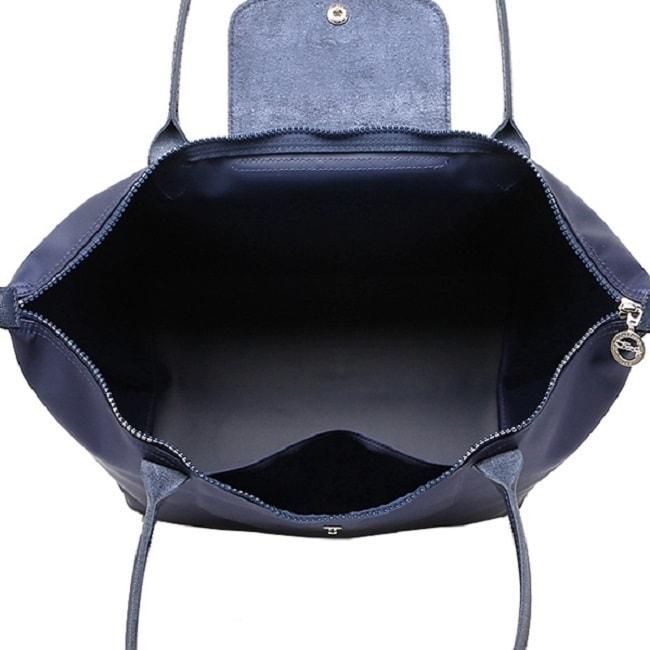 4b7a44f637e1 Shop Longchamp Le Pliage Neo Navy Blue Nylon Tote Bag - Free Shipping Today  - Overstock - 13082395