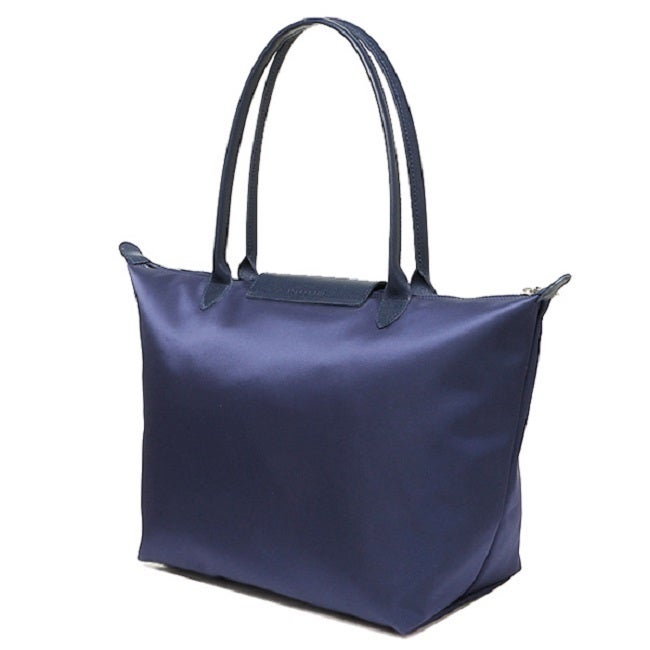 691b468cf910 Shop Longchamp Le Pliage Neo Navy Blue Nylon Tote Bag - Free ...
