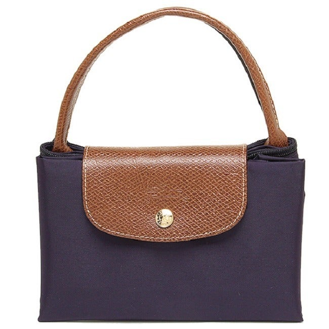 Shop Longchamp Le Pliage Medium Bilberry Canvas Foldable Shoulder Tote Bag  - Free Shipping Today - Overstock.com - 13082397