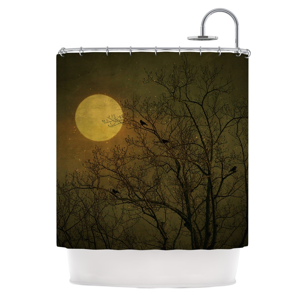 Shop Kess InHouse Robin Dickinson Starry Night Shower Curtain