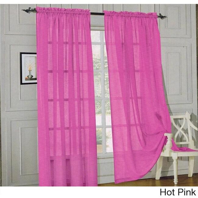 Elegant Comfort 84-inch Window Sheer Curtain Panel Pair - Free ...