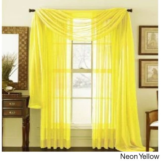 Shop Elegant Comfort 84 Inch Window Sheer Curtain Panel Pair