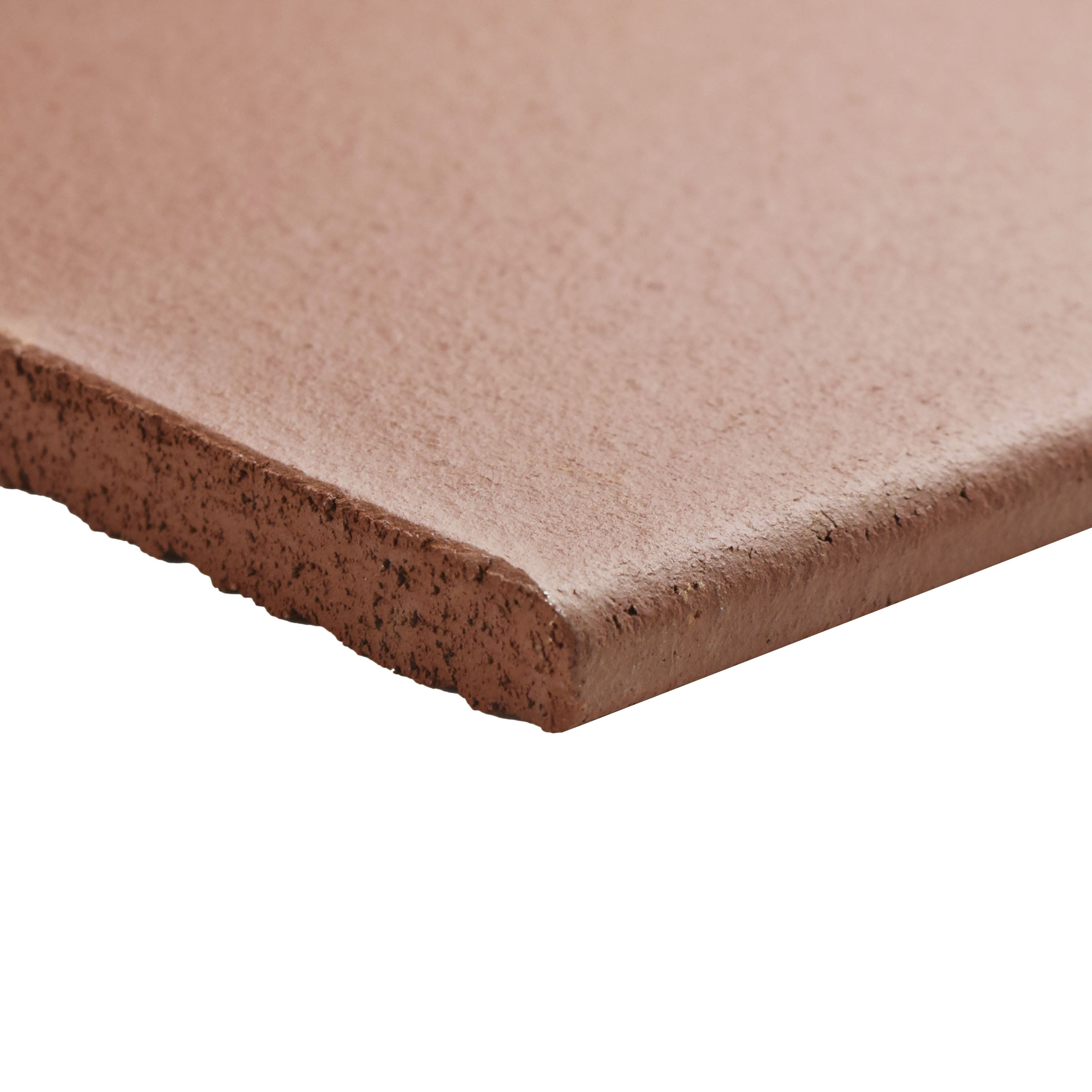Somertile 5 875x5 875 Inch Clinker Edge Red Quarry Bullnose Floor And Wall Trim Tile Free Shipping On Orders Over 45 13094639