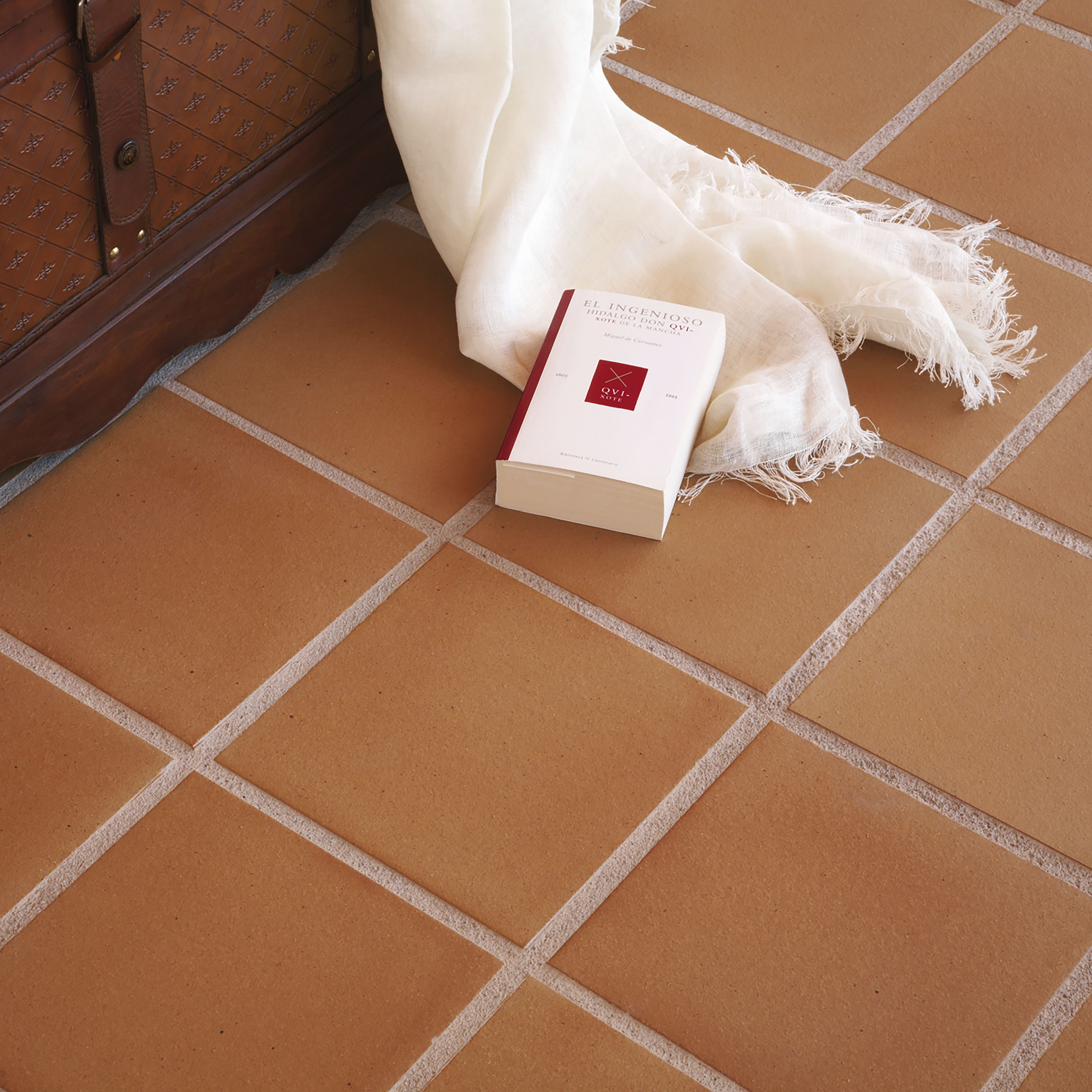Shop Somertile 9625x9625 Inch Clinker Natural Quarry Floor And