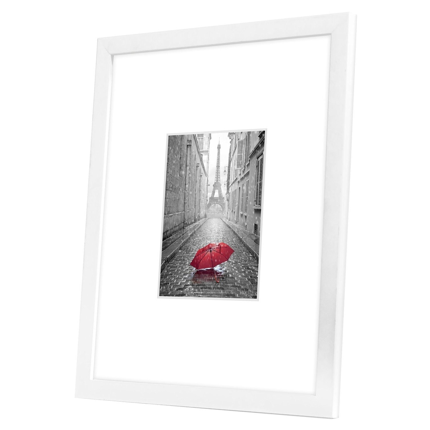 11x14 White Picture Frame - Matted to Fit Pictures 5x7 Inches or ...