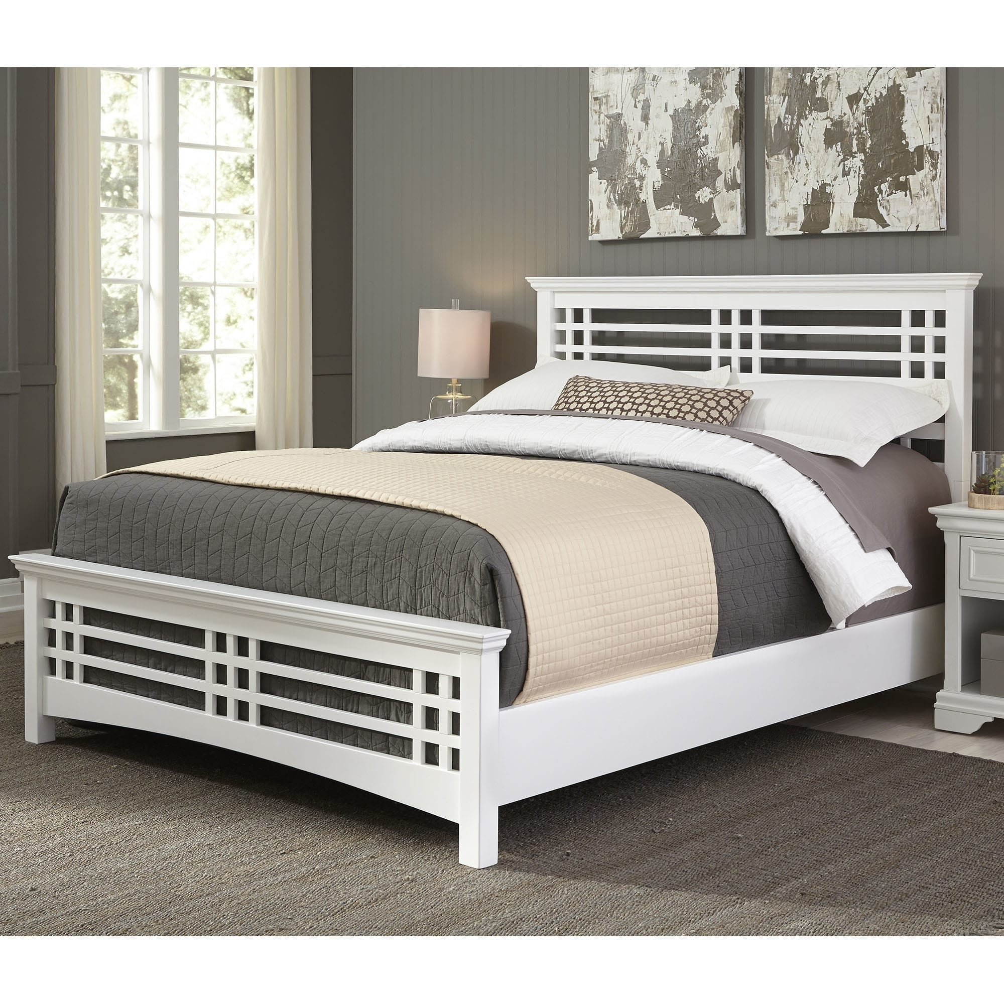 fashion bed group avery wood bed in cottage white finish free