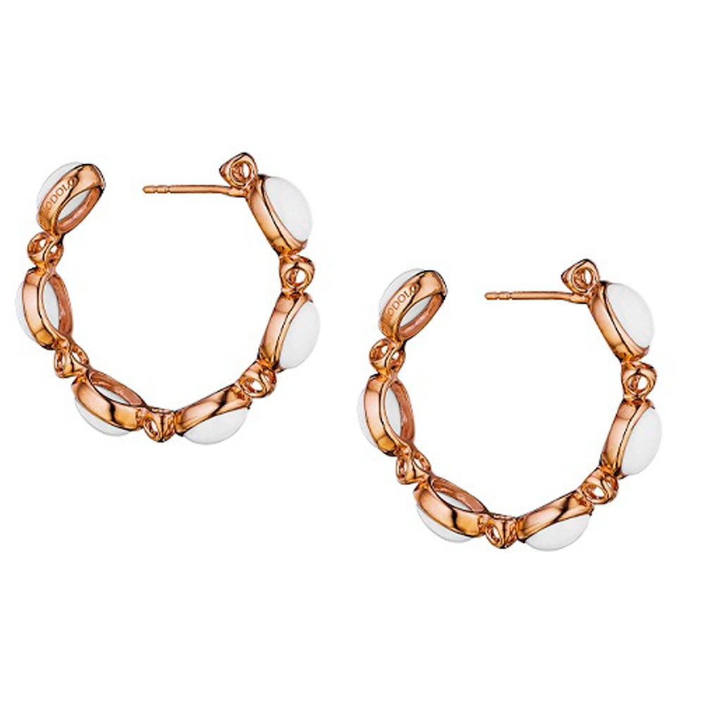 Di Modolo 18k Rose Goldplated Stainless Steel White Agate Hoop Earring Free Shipping Today 13118897