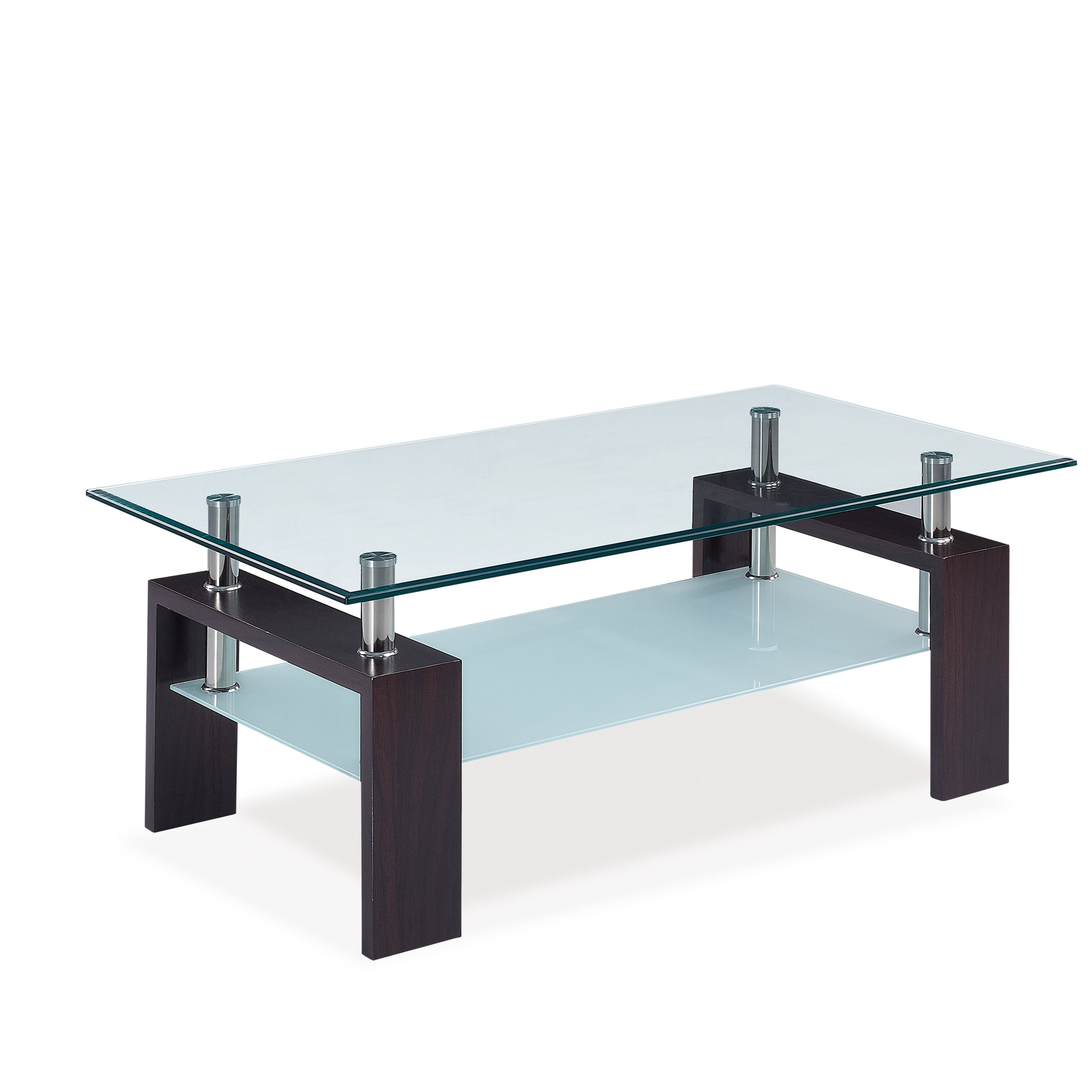 Shop global furniture brown wood veneer glass coffee table free shipping today overstock com 13121918